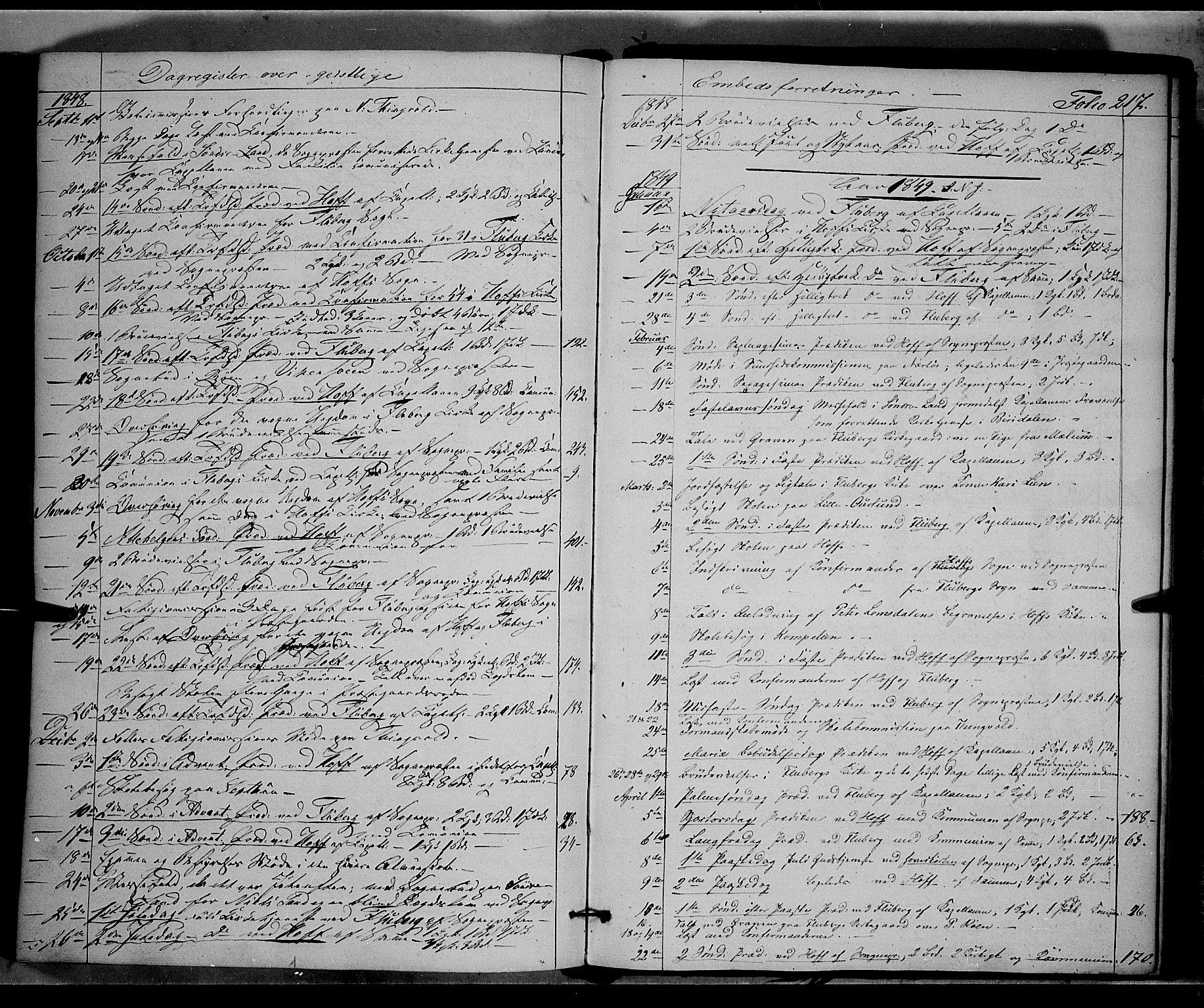 SAH, Land prestekontor, Ministerialbok nr. 9, 1847-1859, s. 217