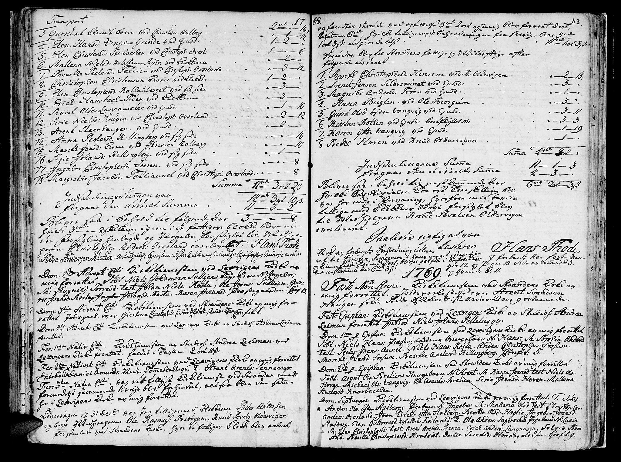 SAT, Ministerialprotokoller, klokkerbøker og fødselsregistre - Nord-Trøndelag, 701/L0003: Ministerialbok nr. 701A03, 1751-1783, s. 113