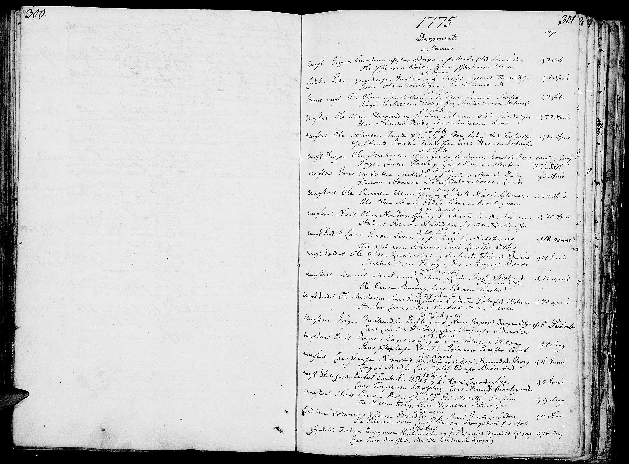 SAH, Ringsaker prestekontor, K/Ka/L0003: Ministerialbok nr. 3, 1775-1798, s. 300-301