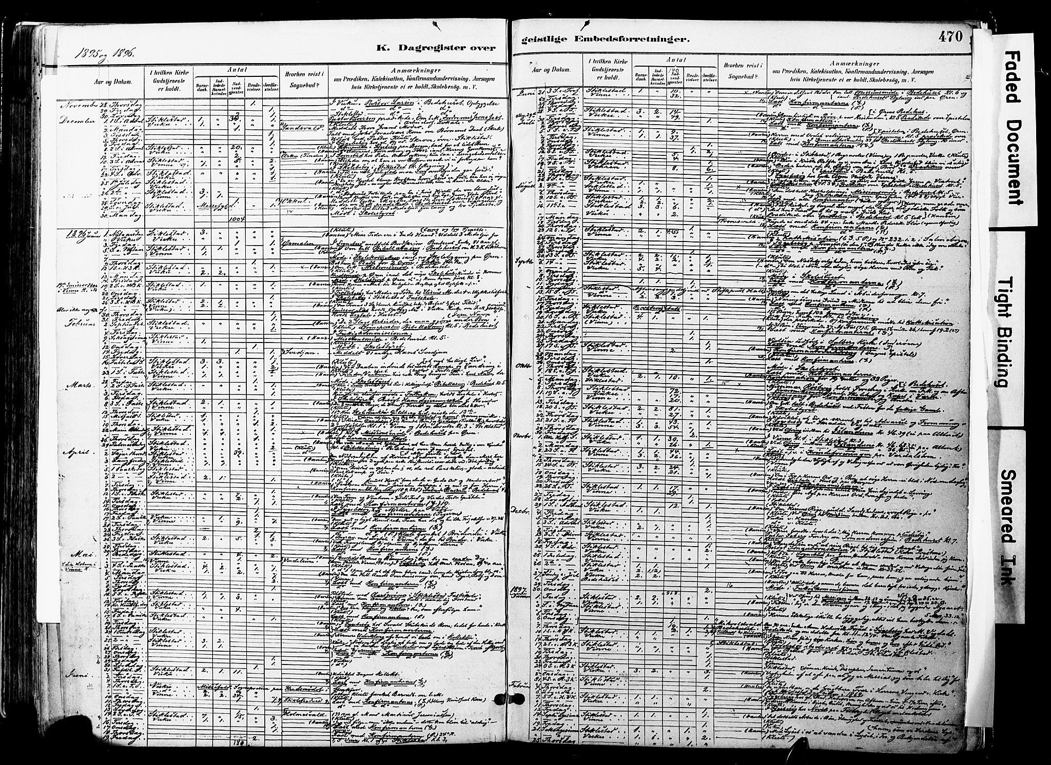 SAT, Ministerialprotokoller, klokkerbøker og fødselsregistre - Nord-Trøndelag, 723/L0244: Ministerialbok nr. 723A13, 1881-1899, s. 470