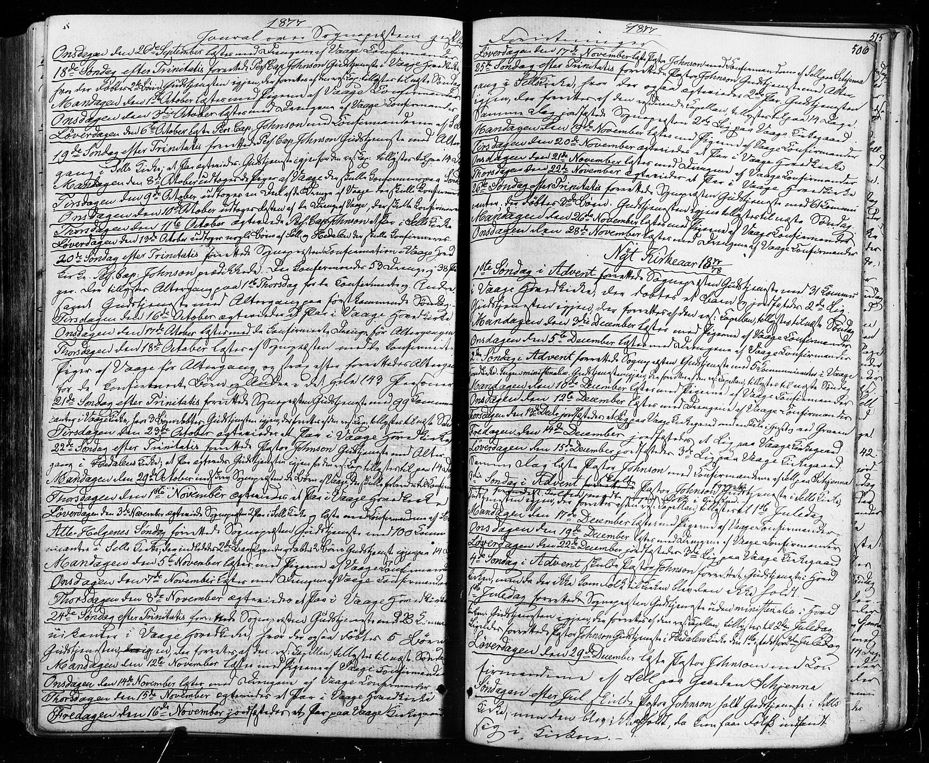 SAH, Vågå prestekontor, Ministerialbok nr. 7 /1, 1872-1886, s. 506