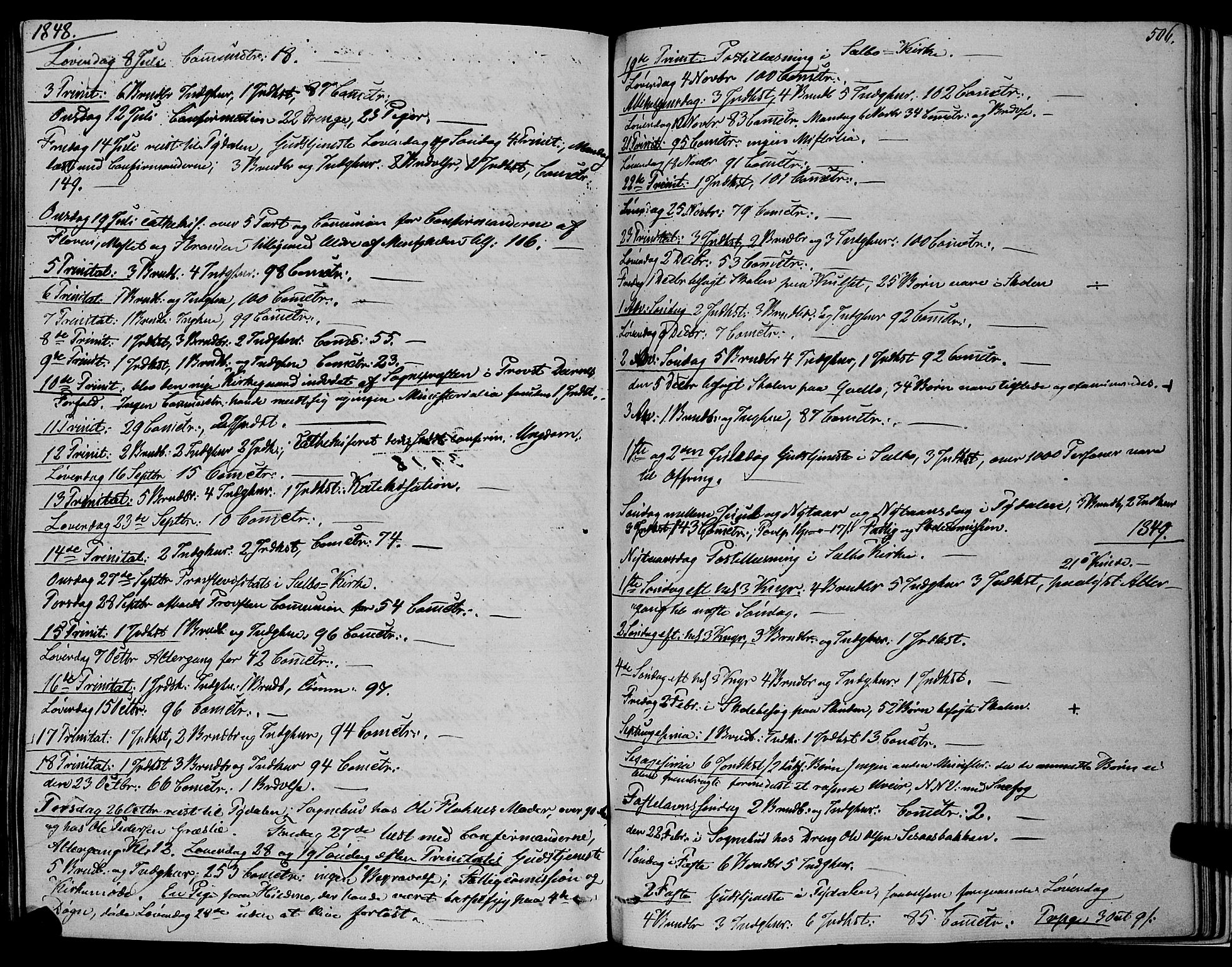 SAT, Ministerialprotokoller, klokkerbøker og fødselsregistre - Sør-Trøndelag, 695/L1145: Ministerialbok nr. 695A06 /1, 1843-1859, s. 506