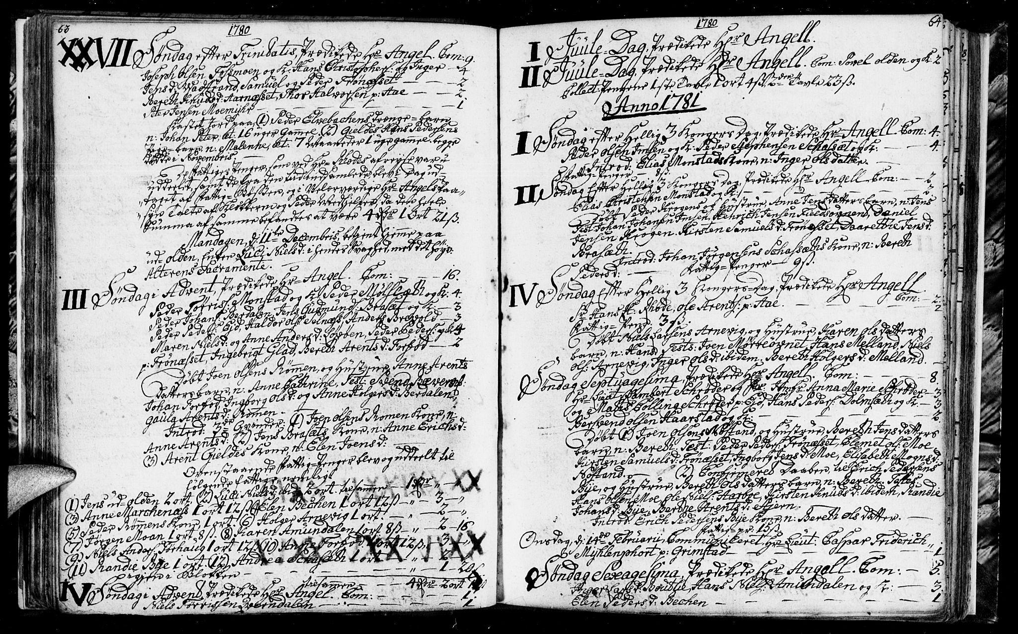 SAT, Ministerialprotokoller, klokkerbøker og fødselsregistre - Sør-Trøndelag, 655/L0685: Klokkerbok nr. 655C01, 1777-1788, s. 63-64