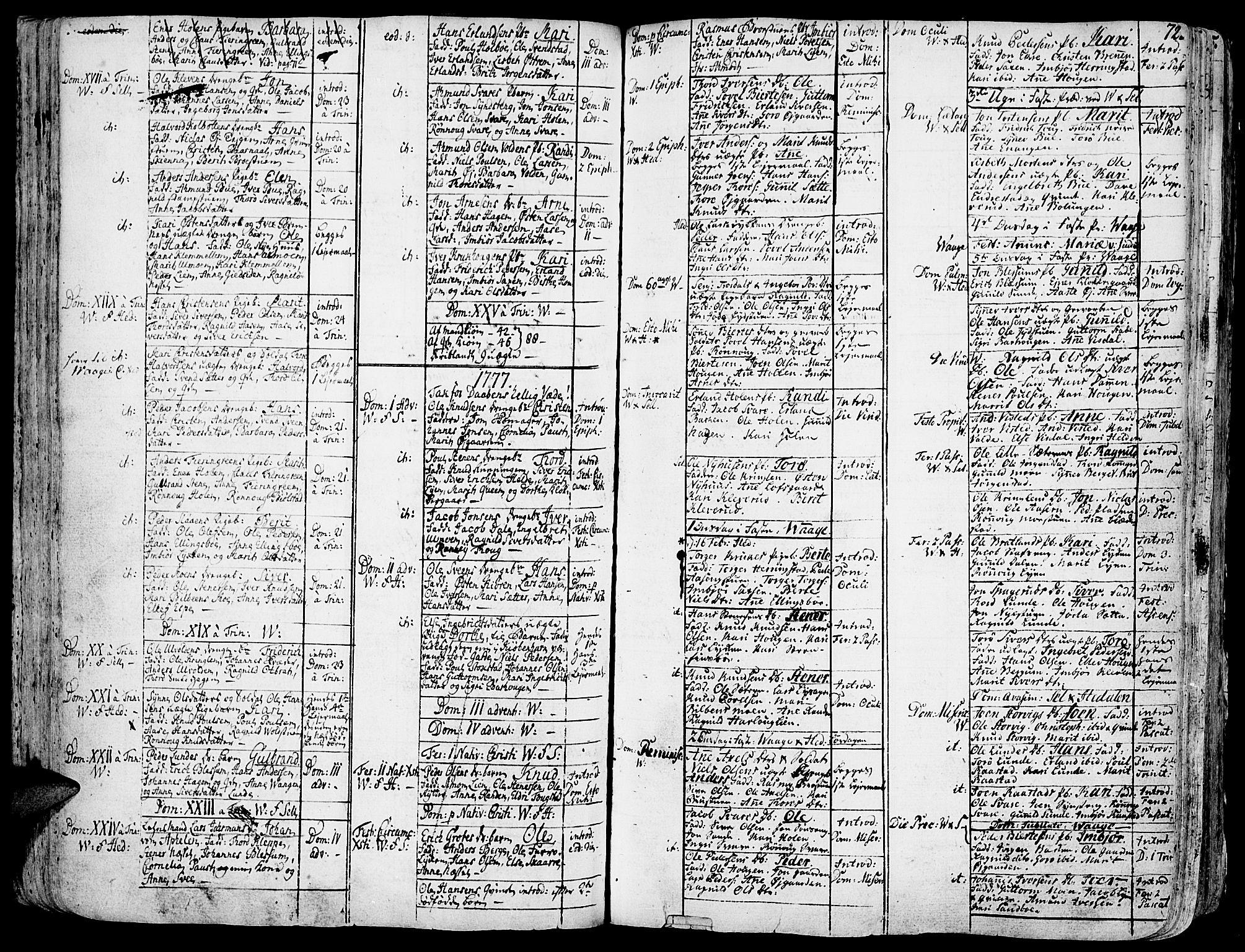 SAH, Vågå prestekontor, Ministerialbok nr. 1, 1739-1810, s. 72