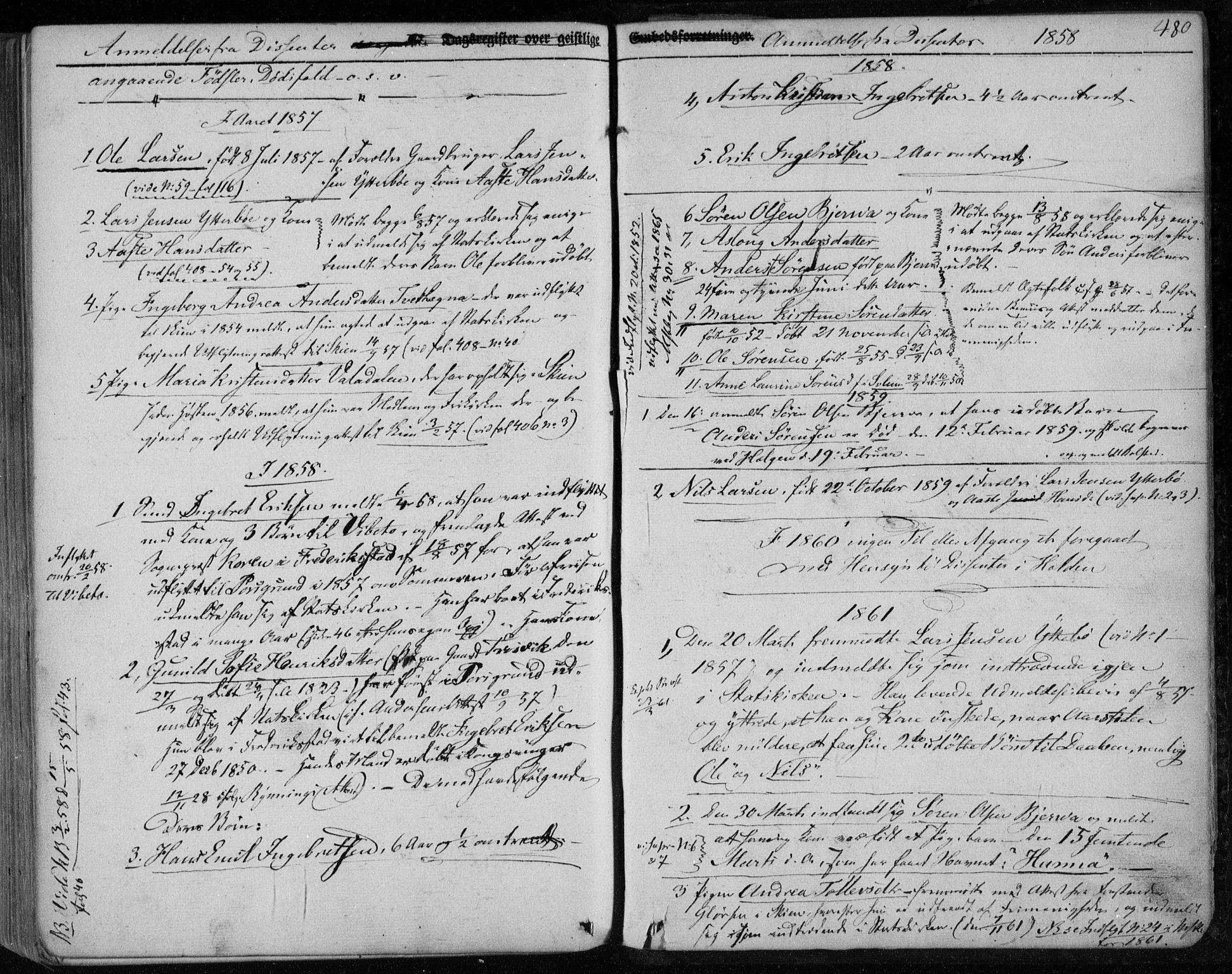 SAKO, Holla kirkebøker, F/Fa/L0005: Ministerialbok nr. 5, 1849-1860, s. 480