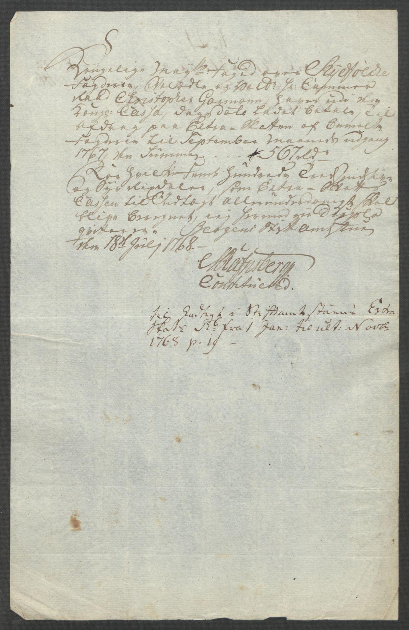 RA, Rentekammeret inntil 1814, Reviderte regnskaper, Fogderegnskap, R47/L2972: Ekstraskatten Ryfylke, 1762-1780, s. 159