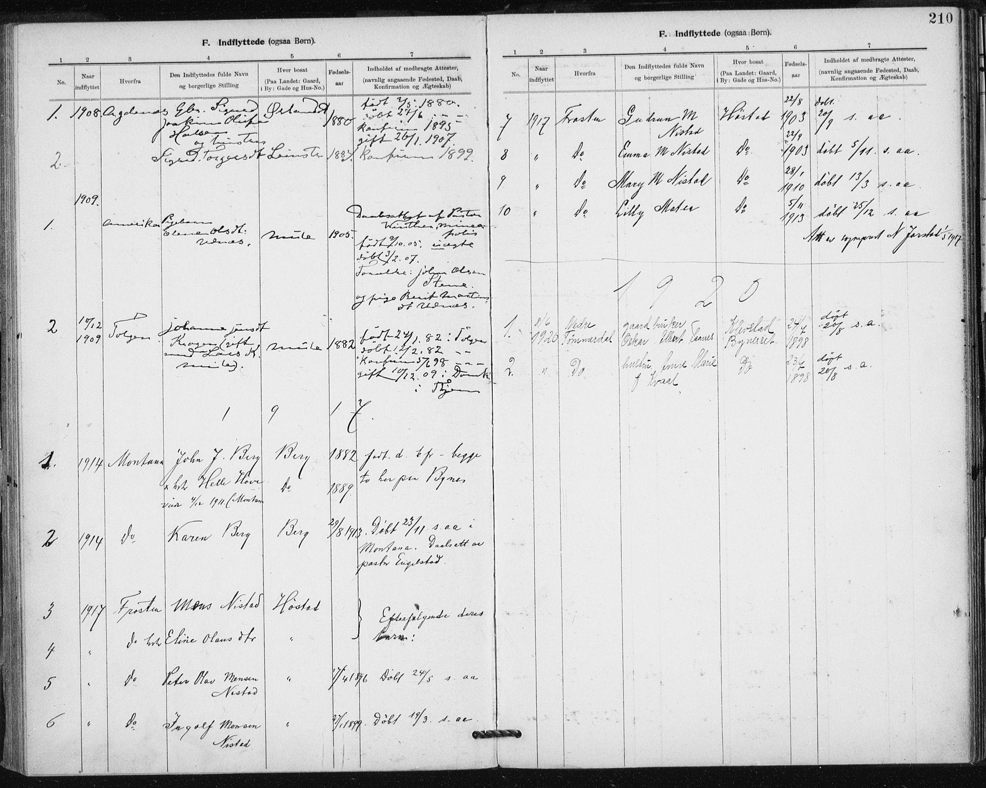 SAT, Ministerialprotokoller, klokkerbøker og fødselsregistre - Sør-Trøndelag, 612/L0381: Ministerialbok nr. 612A13, 1907-1923, s. 210