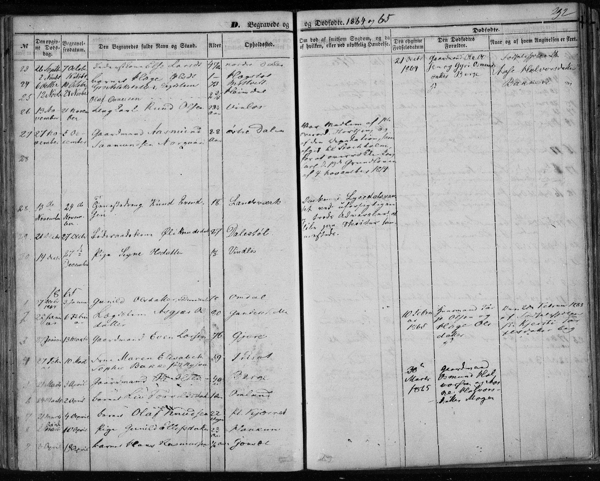 SAKO, Lårdal kirkebøker, F/Fa/L0006: Ministerialbok nr. I 6, 1861-1886, s. 292
