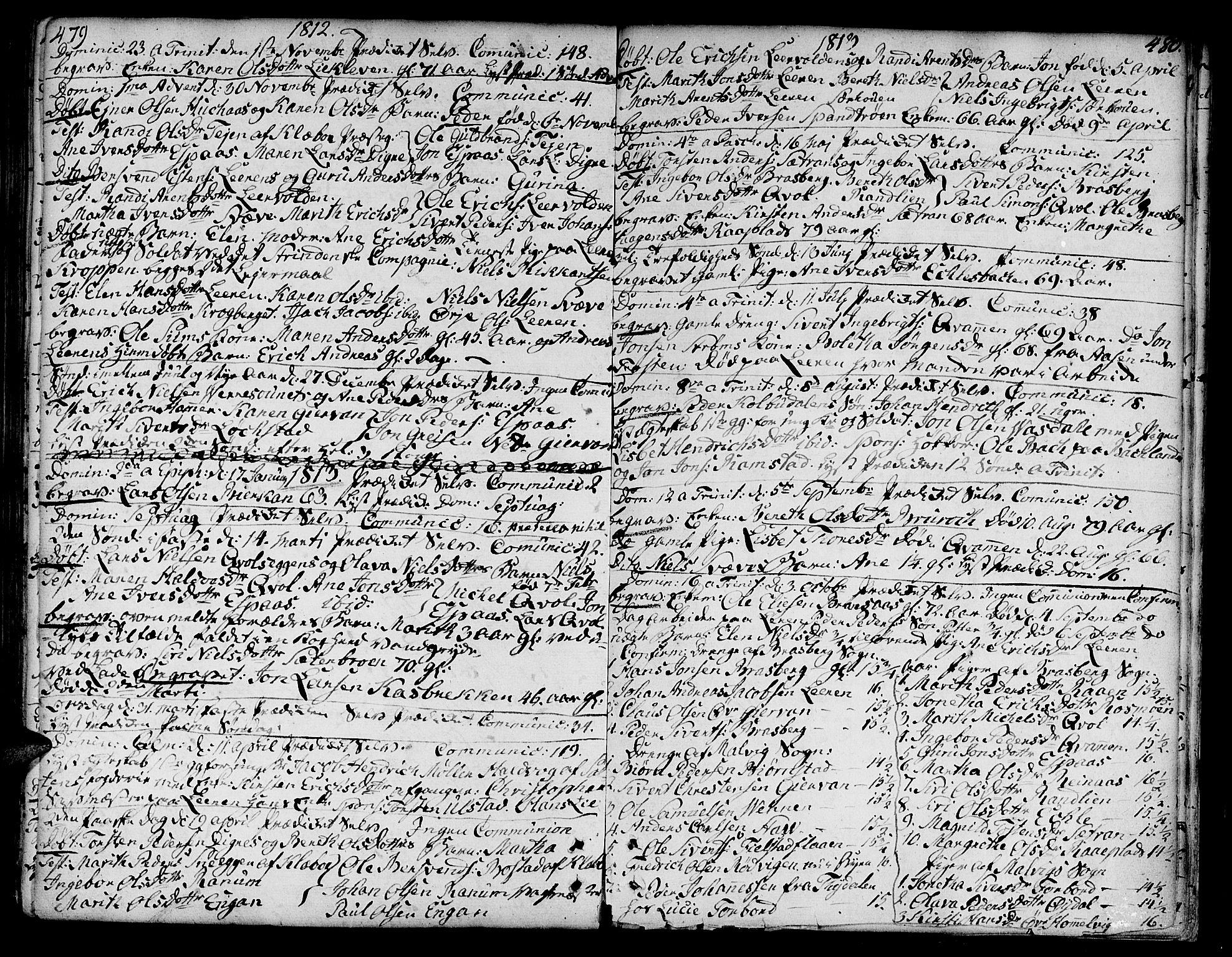 SAT, Ministerialprotokoller, klokkerbøker og fødselsregistre - Sør-Trøndelag, 606/L0282: Ministerialbok nr. 606A02 /3, 1781-1817, s. 479-480