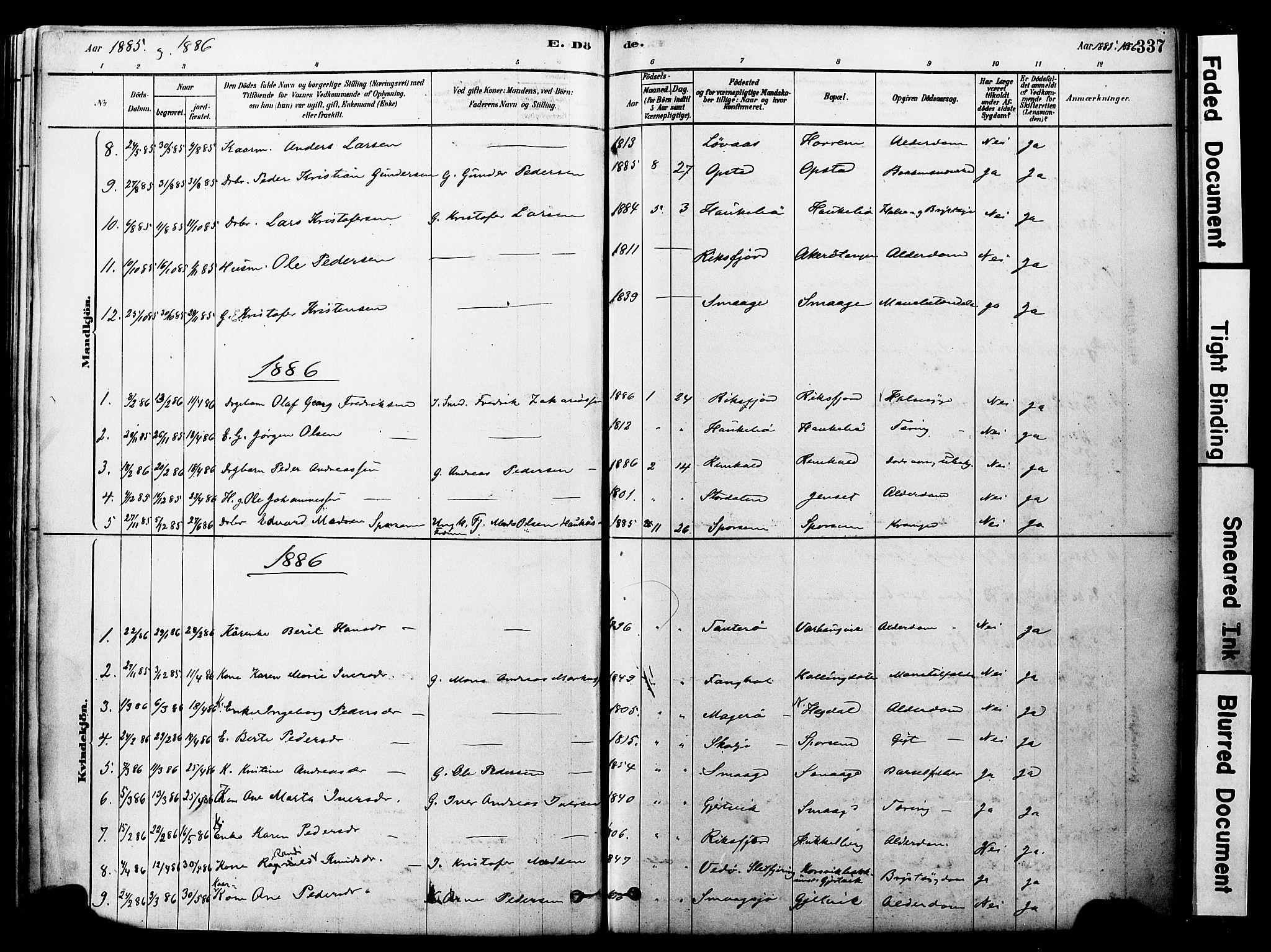 SAT, Ministerialprotokoller, klokkerbøker og fødselsregistre - Møre og Romsdal, 560/L0721: Ministerialbok nr. 560A05, 1878-1917, s. 337