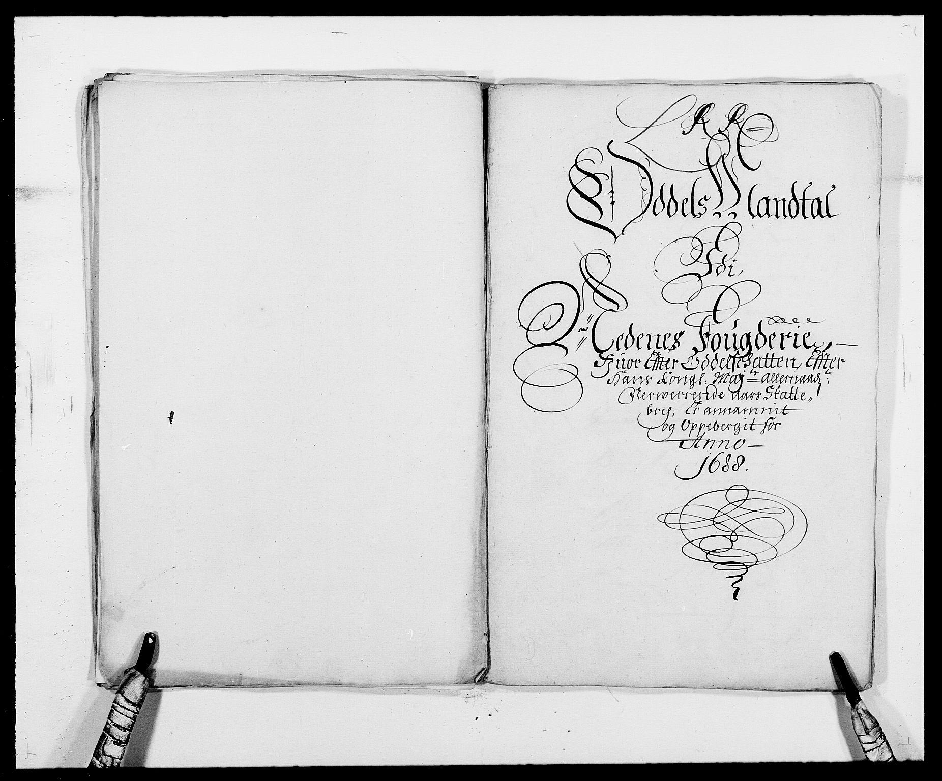 RA, Rentekammeret inntil 1814, Reviderte regnskaper, Fogderegnskap, R39/L2309: Fogderegnskap Nedenes, 1684-1689, s. 160
