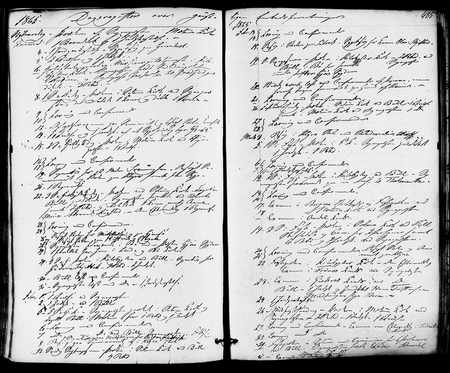 SAKO, Solum kirkebøker, F/Fa/L0008: Ministerialbok nr. I 8, 1865-1876, s. 485