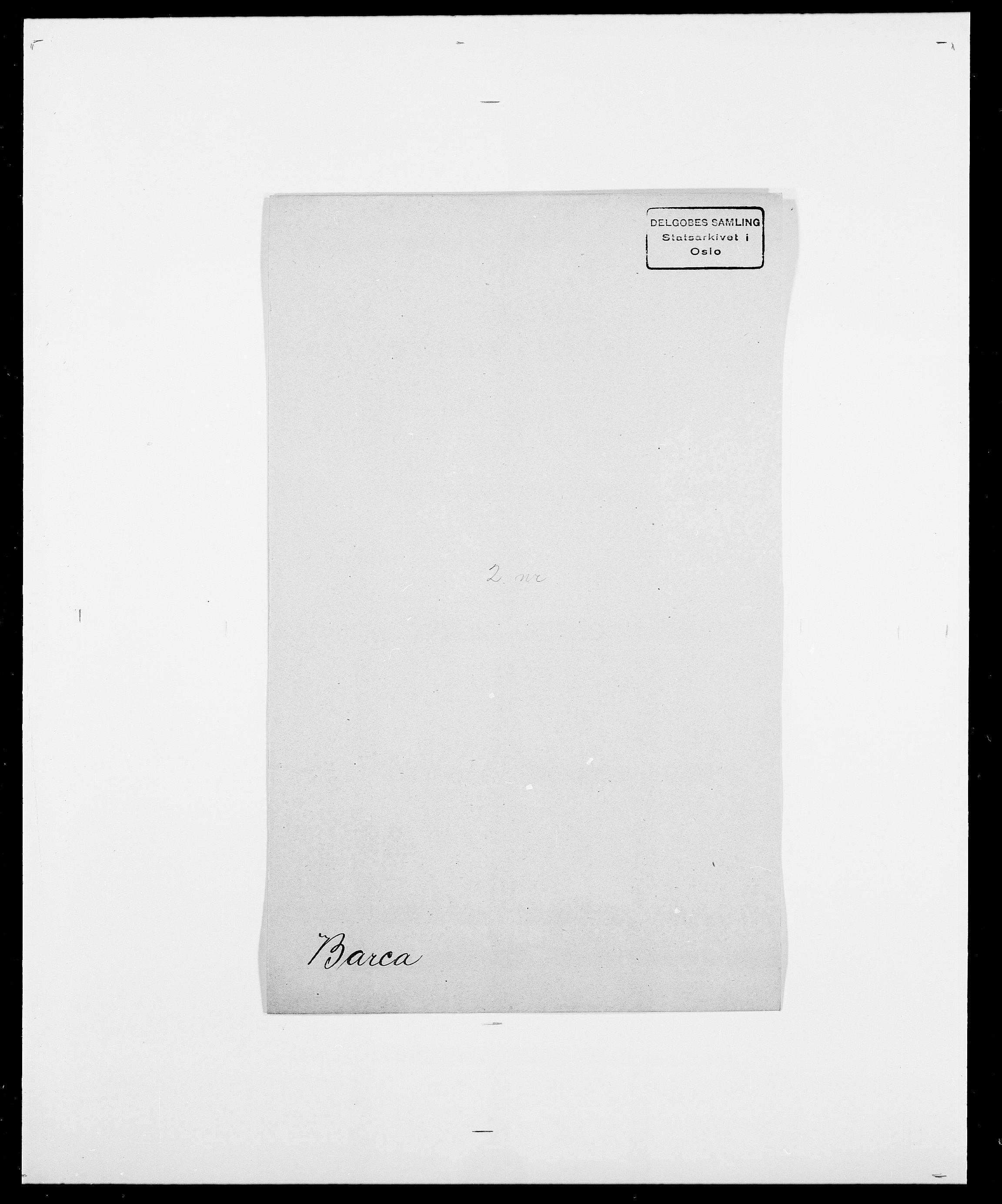 SAO, Delgobe, Charles Antoine - samling, D/Da/L0003: Barca - Bergen, s. 271