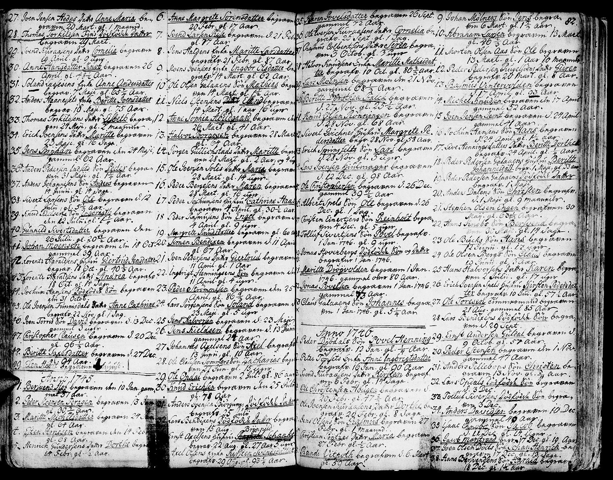 SAT, Ministerialprotokoller, klokkerbøker og fødselsregistre - Sør-Trøndelag, 681/L0925: Ministerialbok nr. 681A03, 1727-1766, s. 82