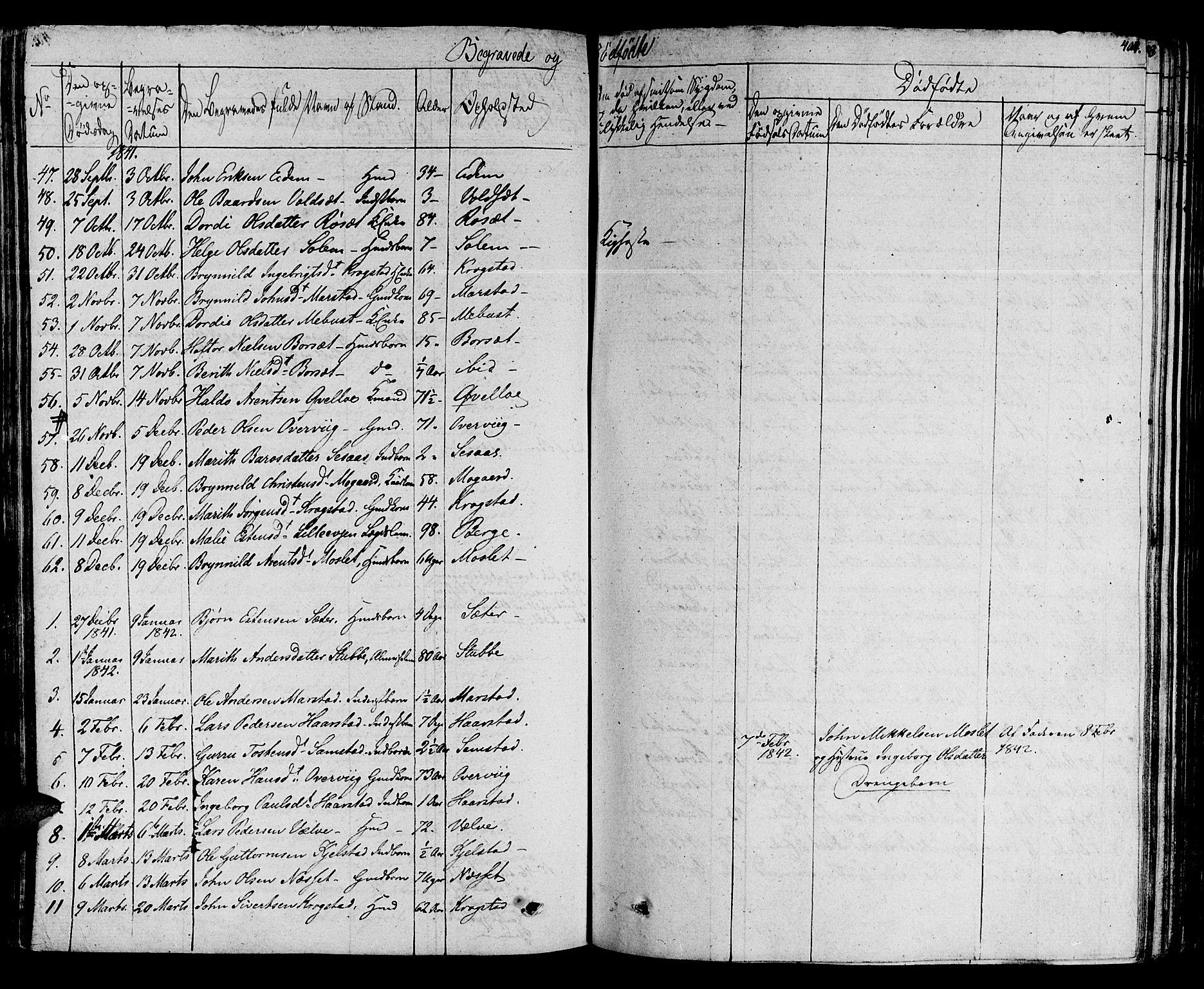 SAT, Ministerialprotokoller, klokkerbøker og fødselsregistre - Sør-Trøndelag, 695/L1143: Ministerialbok nr. 695A05 /1, 1824-1842, s. 404