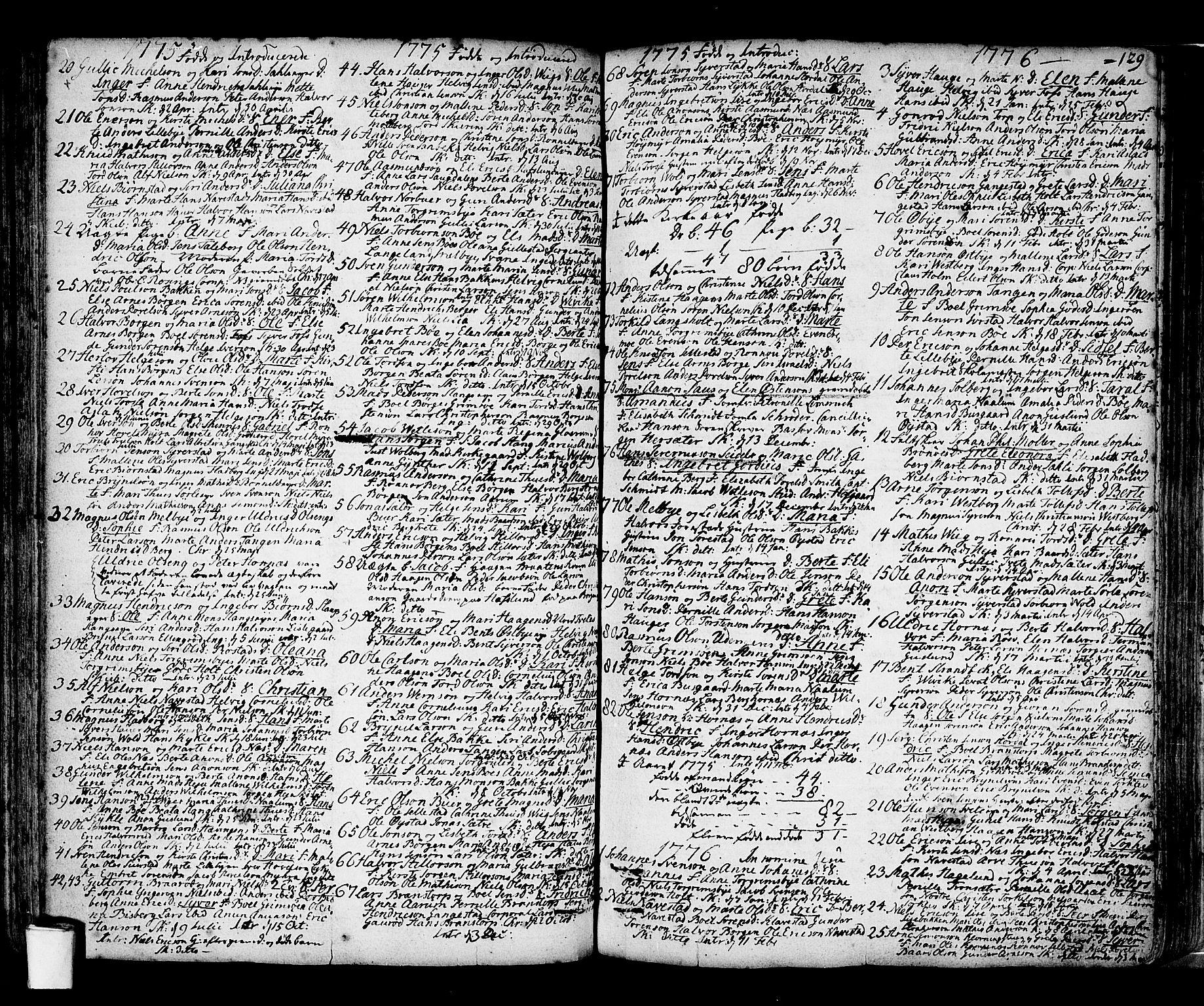 SAO, Skjeberg prestekontor Kirkebøker, F/Fa/L0002: Ministerialbok nr. I 2, 1726-1791, s. 129