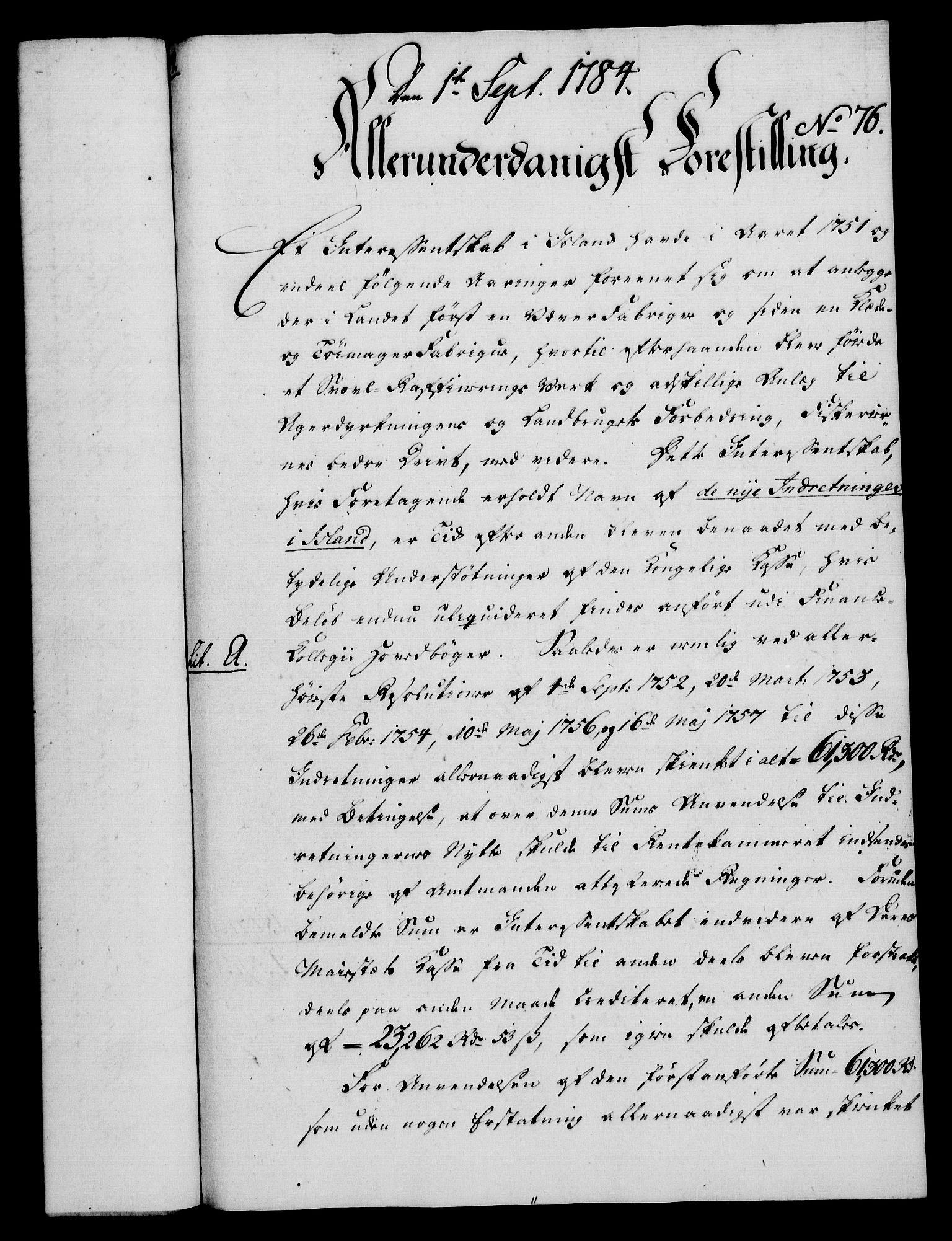 RA, Rentekammeret, Kammerkanselliet, G/Gf/Gfa/L0066: Norsk relasjons- og resolusjonsprotokoll (merket RK 52.66), 1784, s. 534
