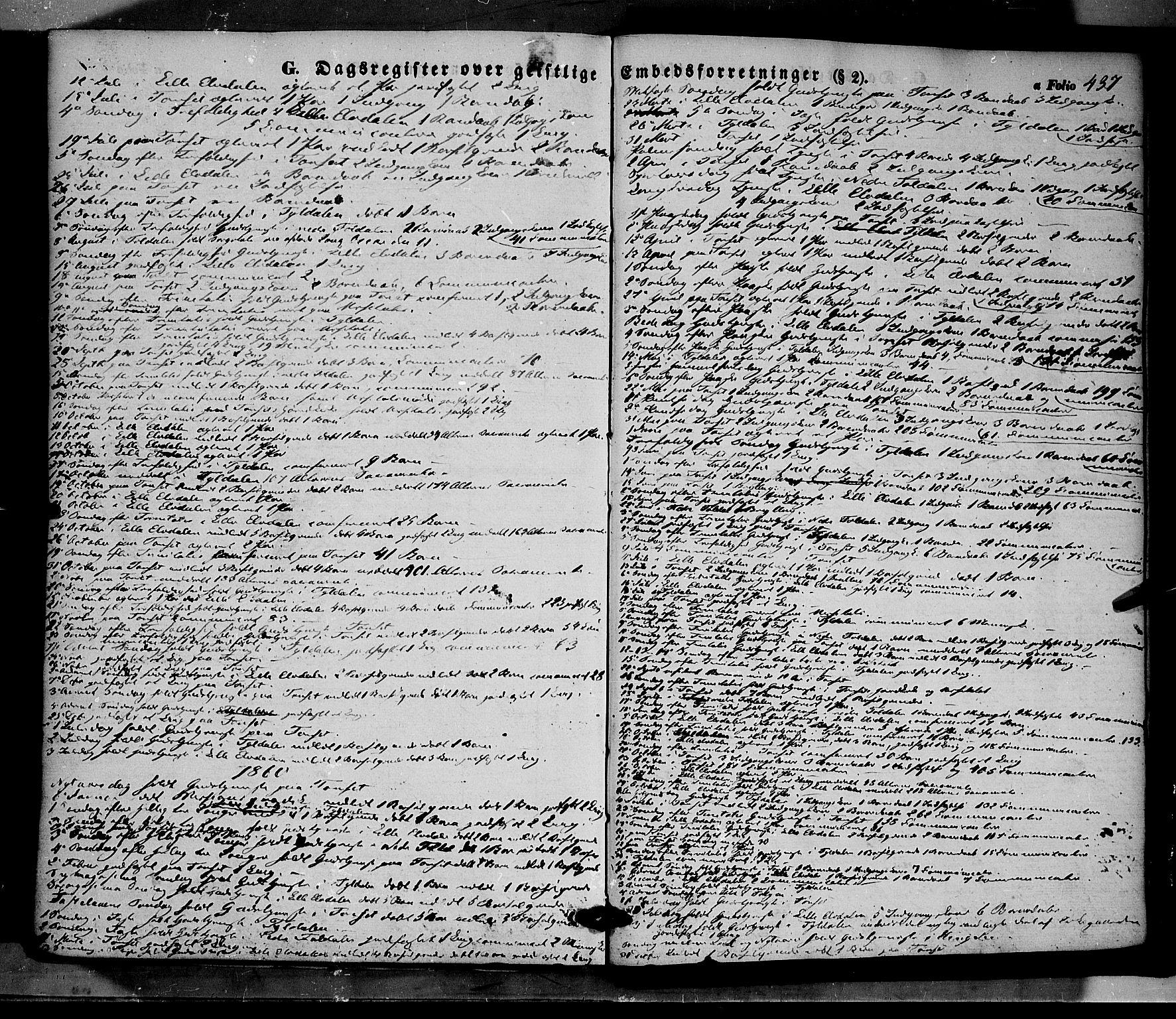 SAH, Tynset prestekontor, Ministerialbok nr. 20, 1848-1862, s. 437