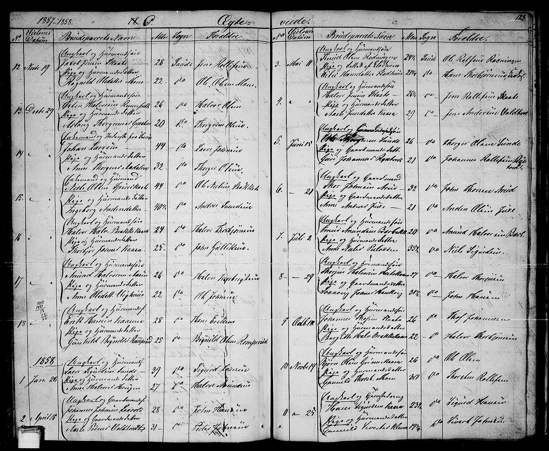 SAKO, Sauherad kirkebøker, G/Ga/L0002: Klokkerbok nr. I 2, 1842-1866, s. 123