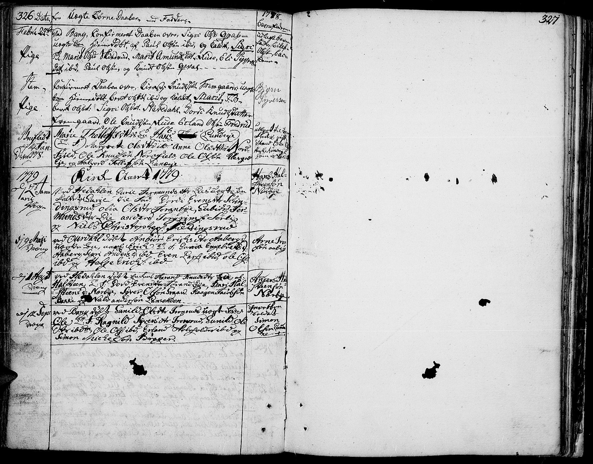 SAH, Aurdal prestekontor, Ministerialbok nr. 5, 1763-1781, s. 326-327