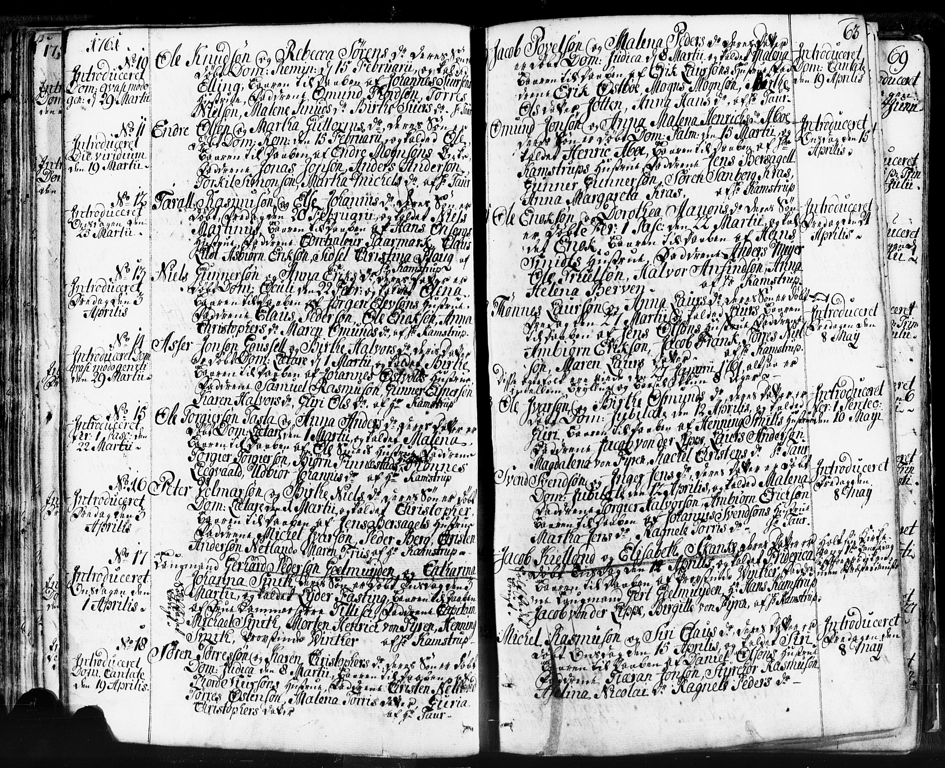 SAST, Domkirken sokneprestkontor, 30/30BB/L0004: Klokkerbok nr. B 4, 1752-1790, s. 63