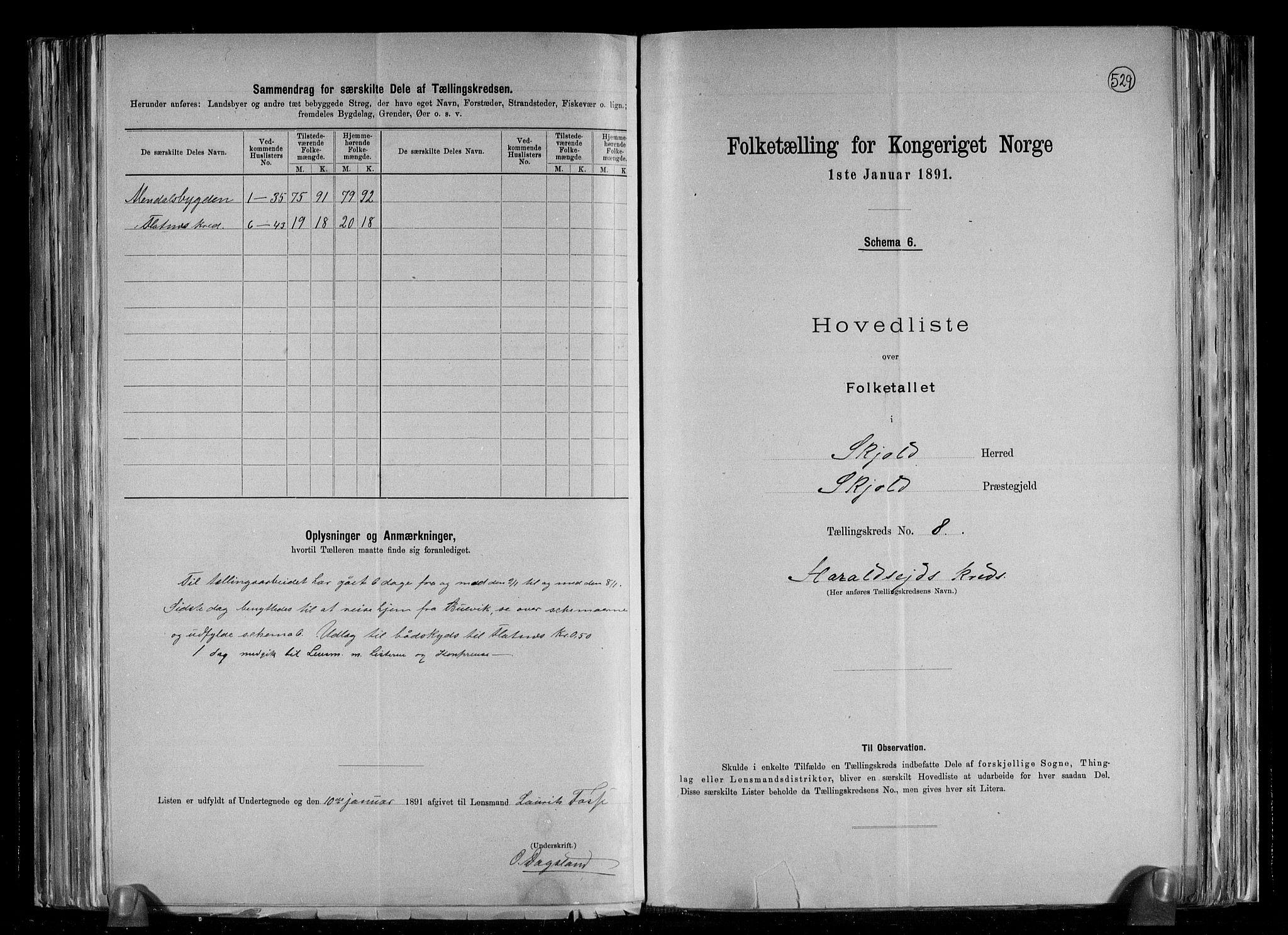 RA, Folketelling 1891 for 1154 Skjold herred, 1891, s. 19
