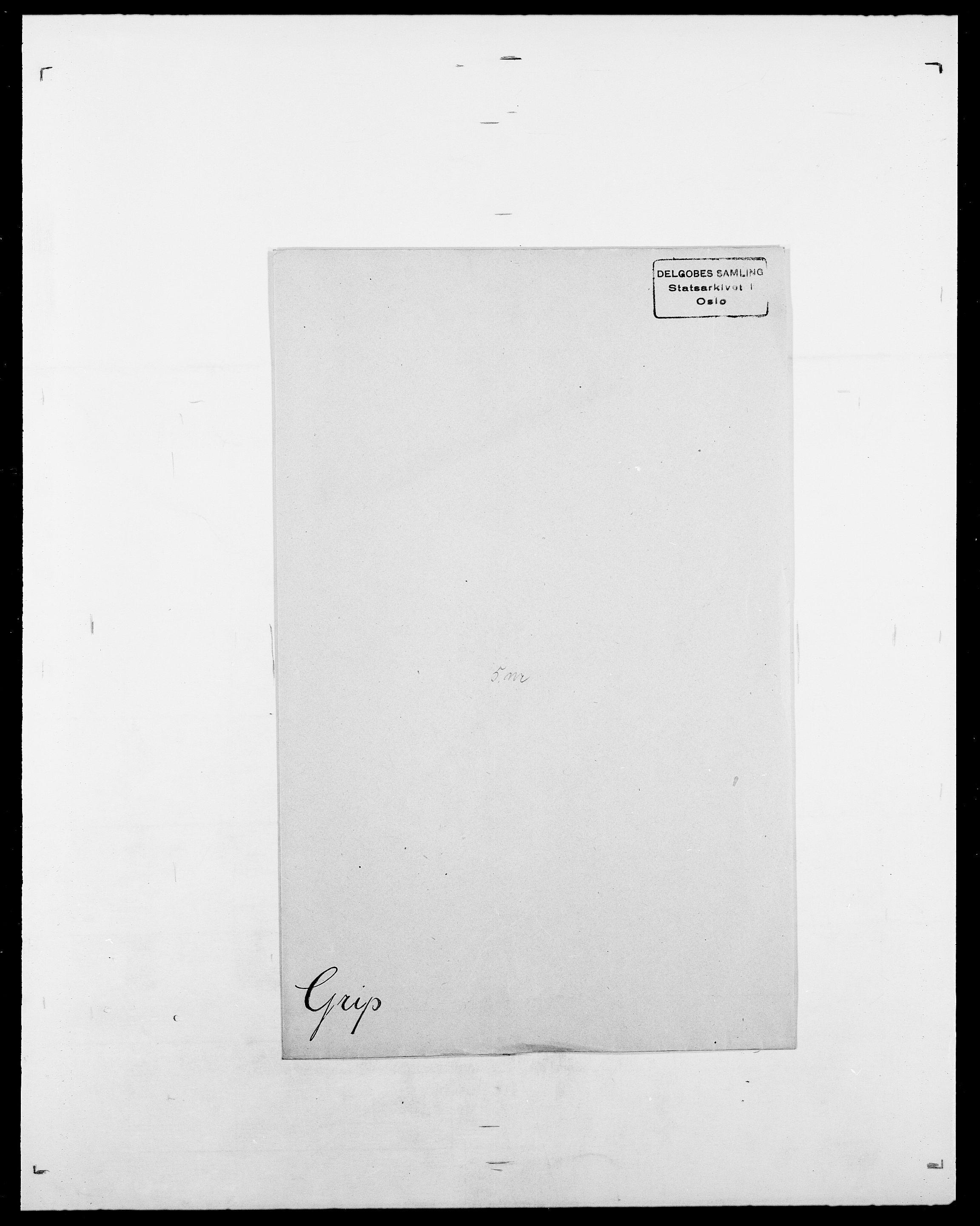 SAO, Delgobe, Charles Antoine - samling, D/Da/L0014: Giebdhausen - Grip, s. 699