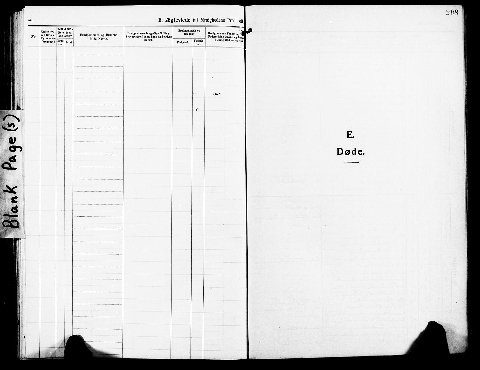SATØ, Lenvik sokneprestembete, H/Ha: Klokkerbok nr. 9, 1912-1926, s. 208