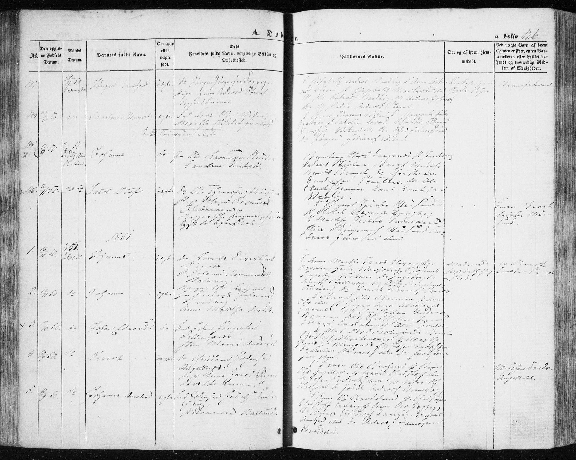 SAT, Ministerialprotokoller, klokkerbøker og fødselsregistre - Sør-Trøndelag, 634/L0529: Ministerialbok nr. 634A05, 1843-1851, s. 126
