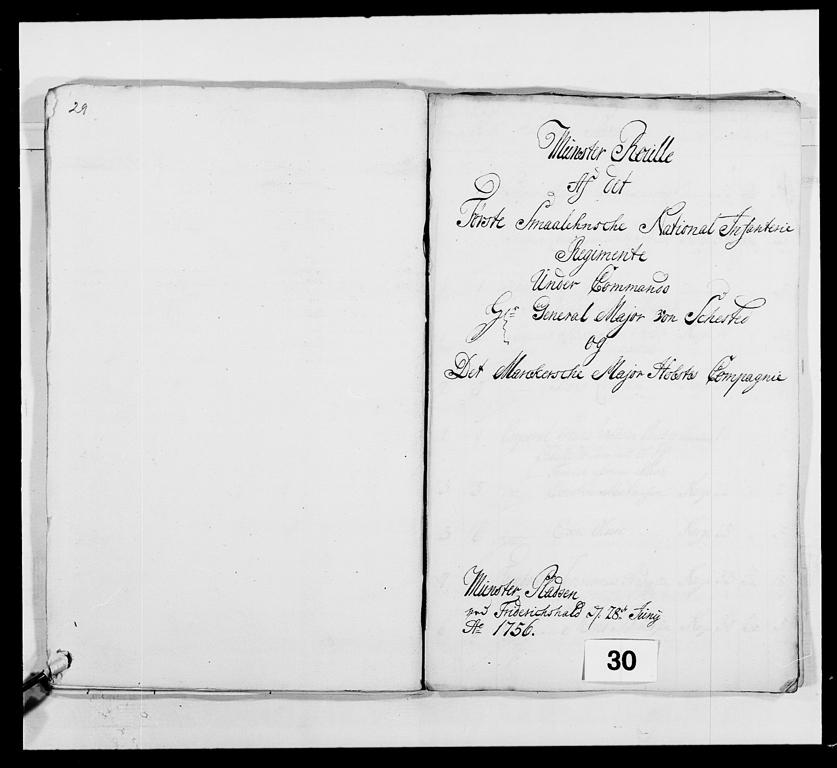 RA, Kommanderende general (KG I) med Det norske krigsdirektorium, E/Ea/L0495: 1. Smålenske regiment, 1732-1763, s. 471