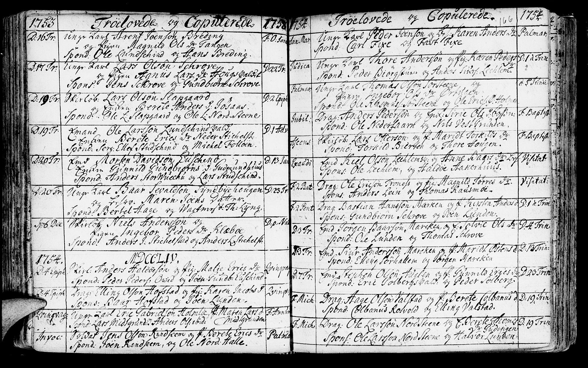 SAT, Ministerialprotokoller, klokkerbøker og fødselsregistre - Nord-Trøndelag, 723/L0231: Ministerialbok nr. 723A02, 1748-1780, s. 166