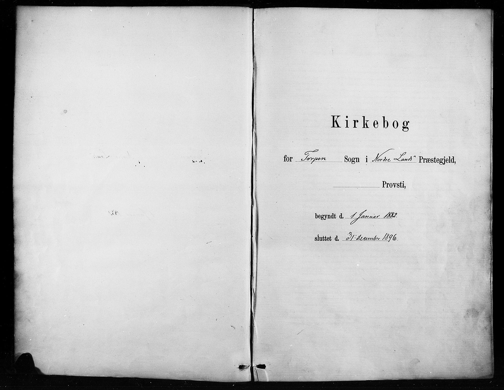 SAH, Nordre Land prestekontor, Ministerialbok nr. 4, 1882-1896