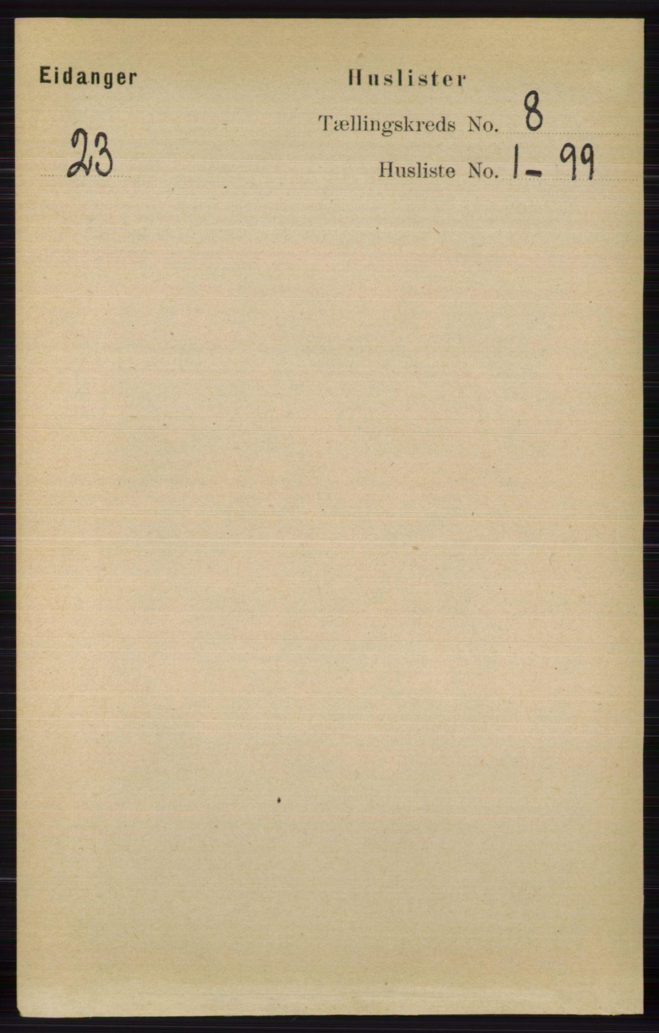 RA, Folketelling 1891 for 0813 Eidanger herred, 1891, s. 2885