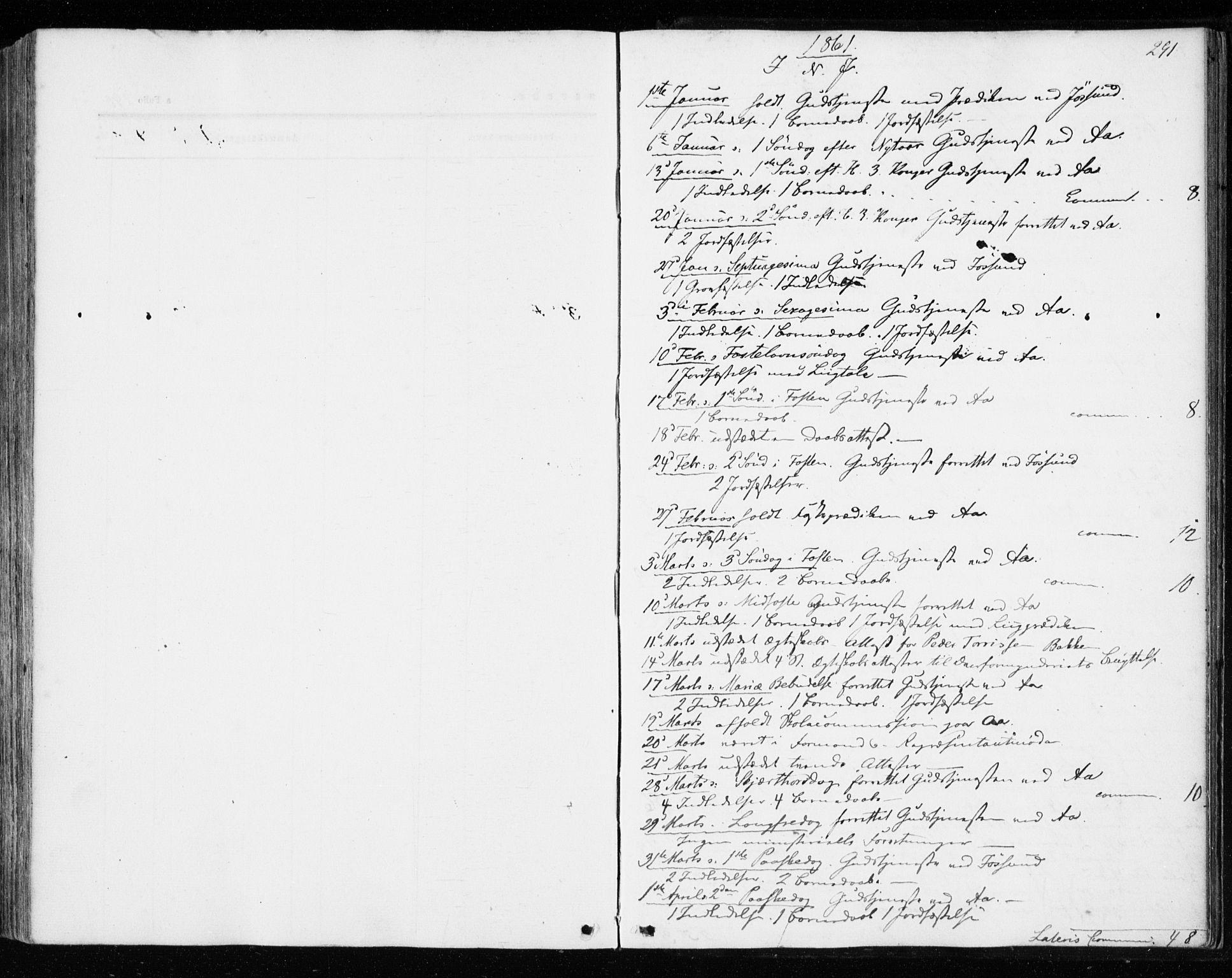 SAT, Ministerialprotokoller, klokkerbøker og fødselsregistre - Sør-Trøndelag, 655/L0678: Ministerialbok nr. 655A07, 1861-1873, s. 291