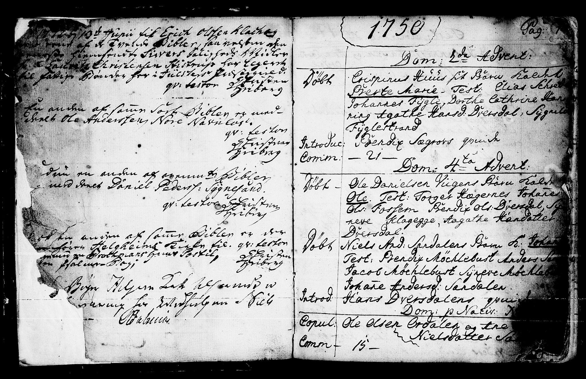 SAB, Jølster Sokneprestembete, Ministerialbok nr. A 4, 1749-1789