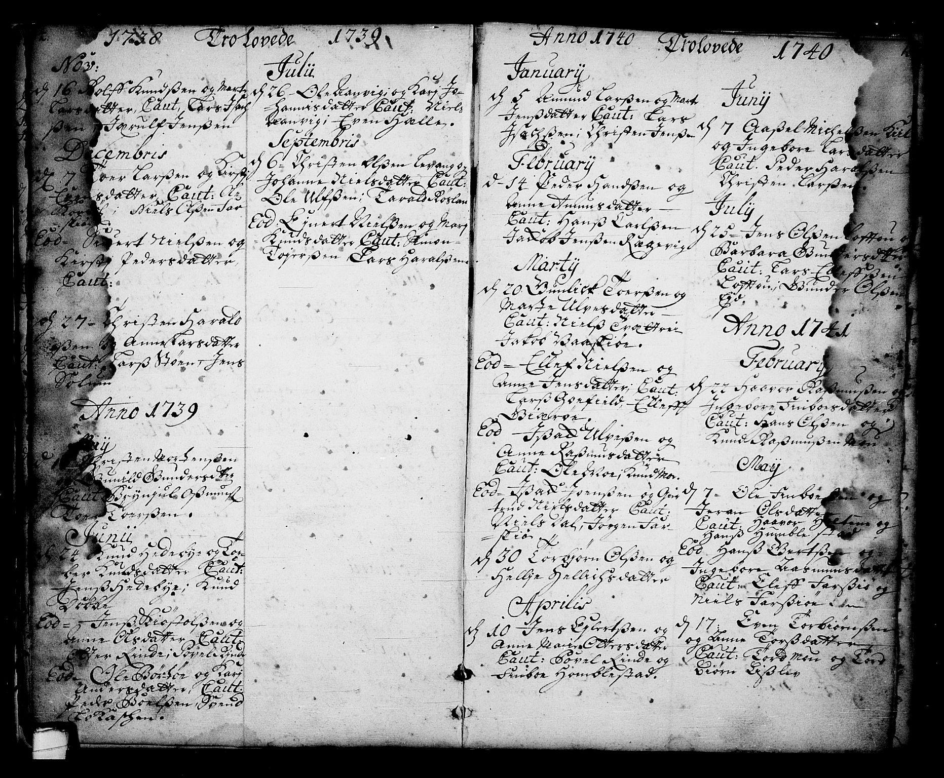 SAKO, Sannidal kirkebøker, F/Fa/L0001: Ministerialbok nr. 1, 1702-1766, s. 14-15