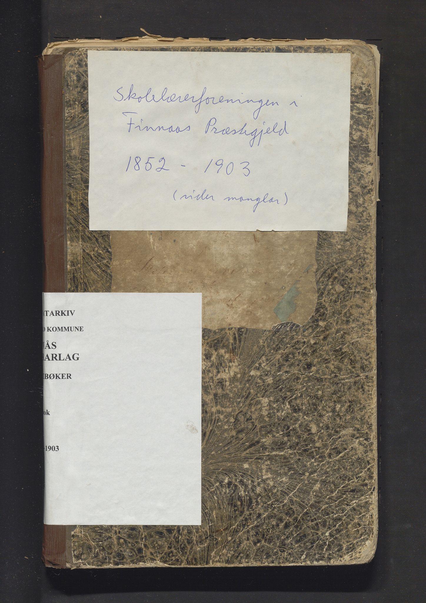 IKAH, Finnås lærarlag, A/Aa/L0001: Møtebok for skolelærerforeningen i Finnås prestegjeld, 1852-1903