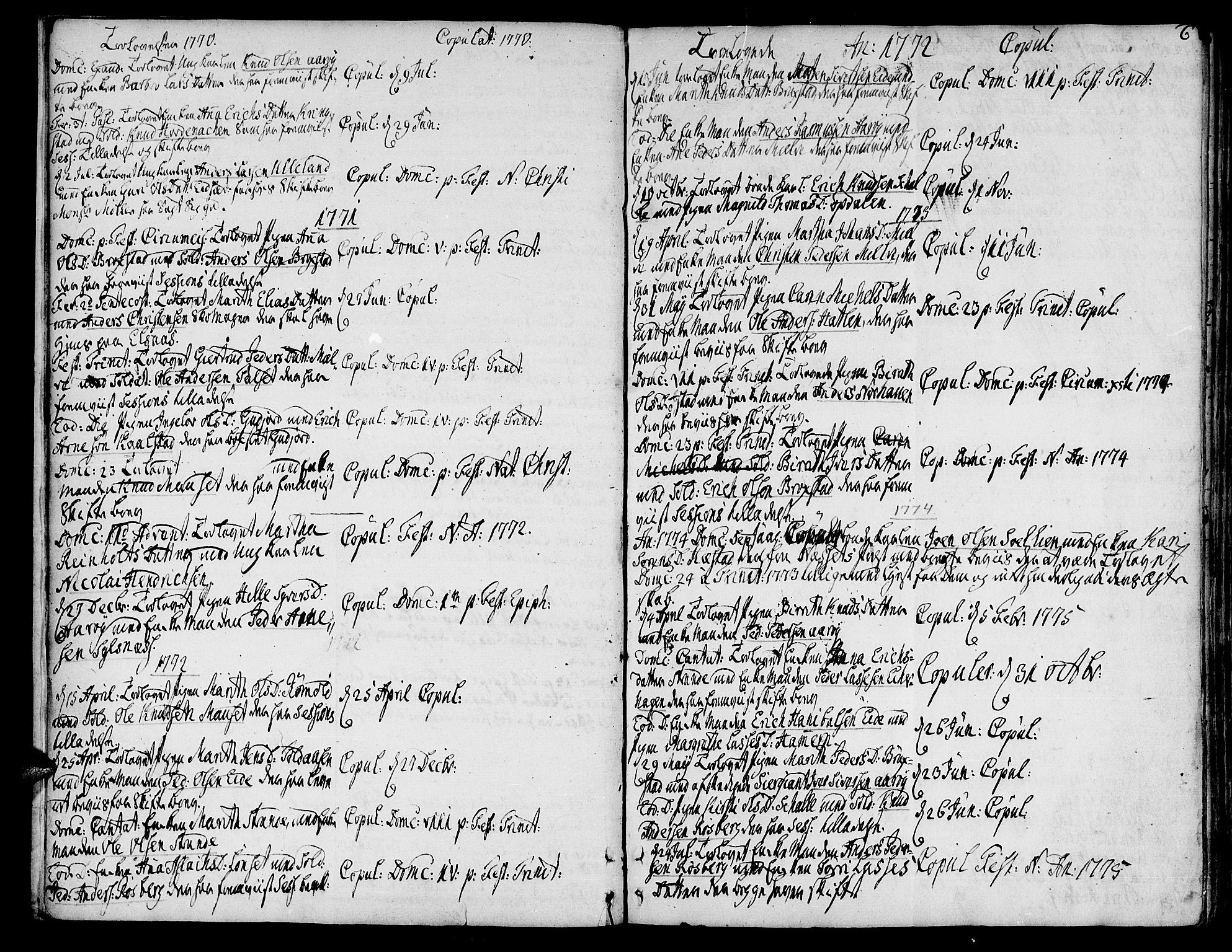 SAT, Ministerialprotokoller, klokkerbøker og fødselsregistre - Møre og Romsdal, 555/L0648: Ministerialbok nr. 555A01, 1759-1793, s. 6
