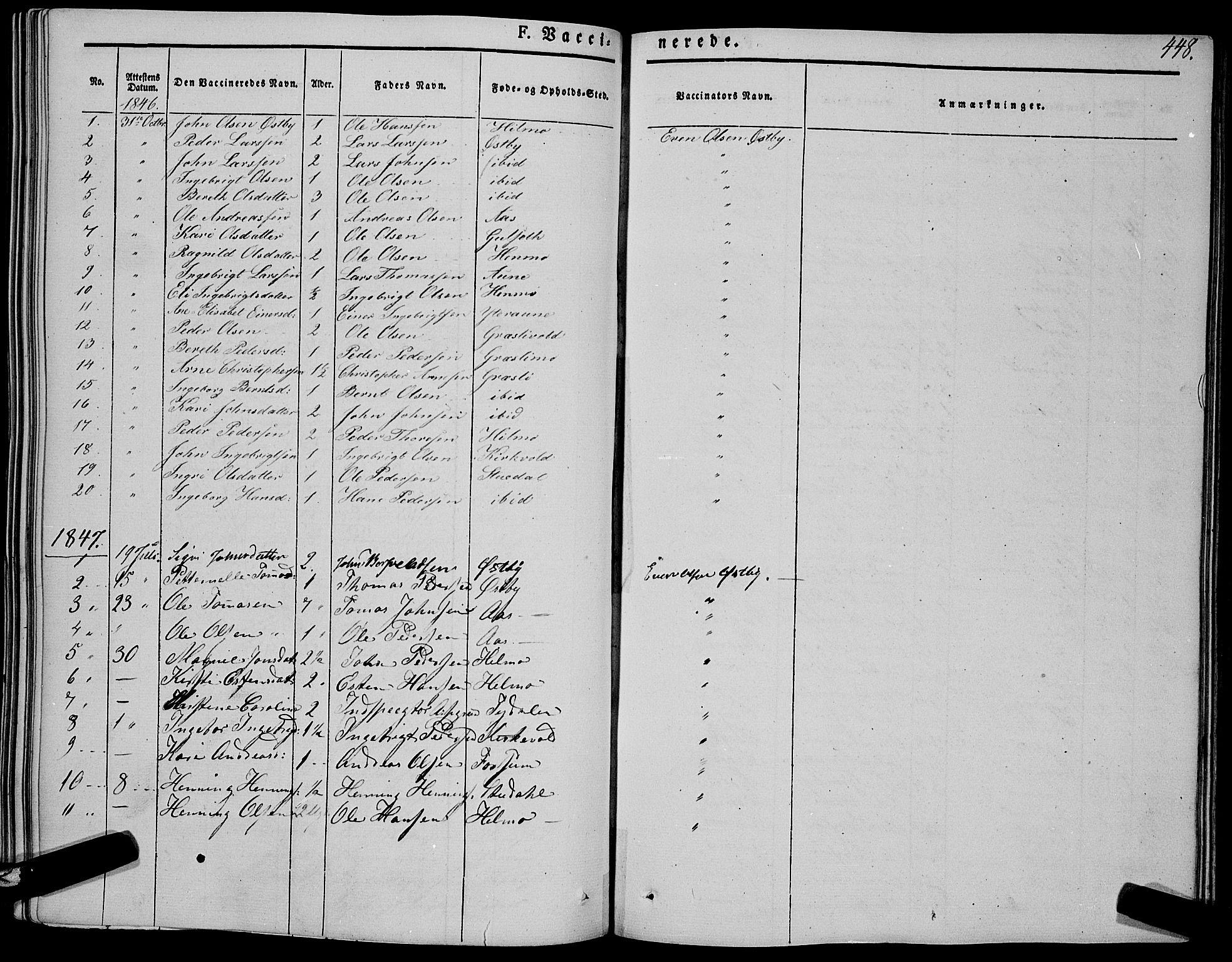 SAT, Ministerialprotokoller, klokkerbøker og fødselsregistre - Sør-Trøndelag, 695/L1145: Ministerialbok nr. 695A06 /1, 1843-1859, s. 448