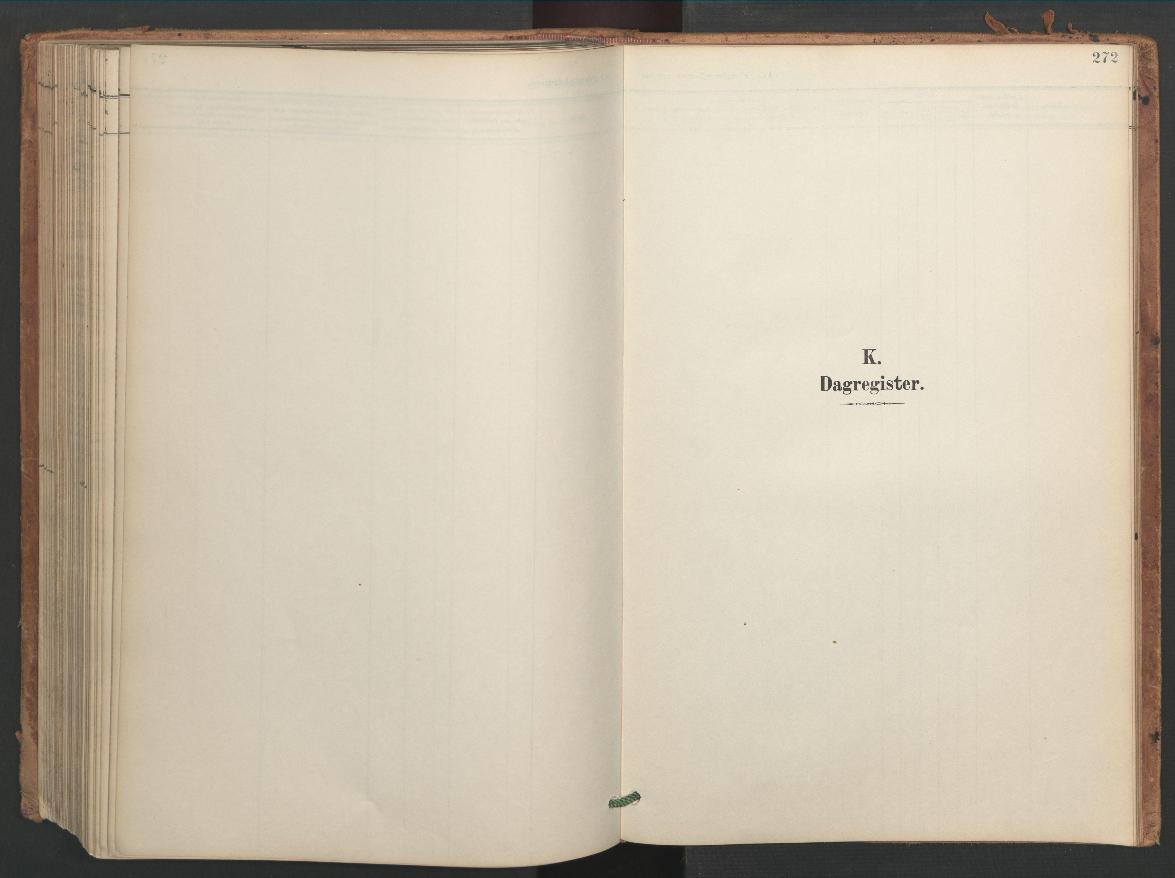 SAT, Ministerialprotokoller, klokkerbøker og fødselsregistre - Sør-Trøndelag, 656/L0693: Ministerialbok nr. 656A02, 1894-1913, s. 272