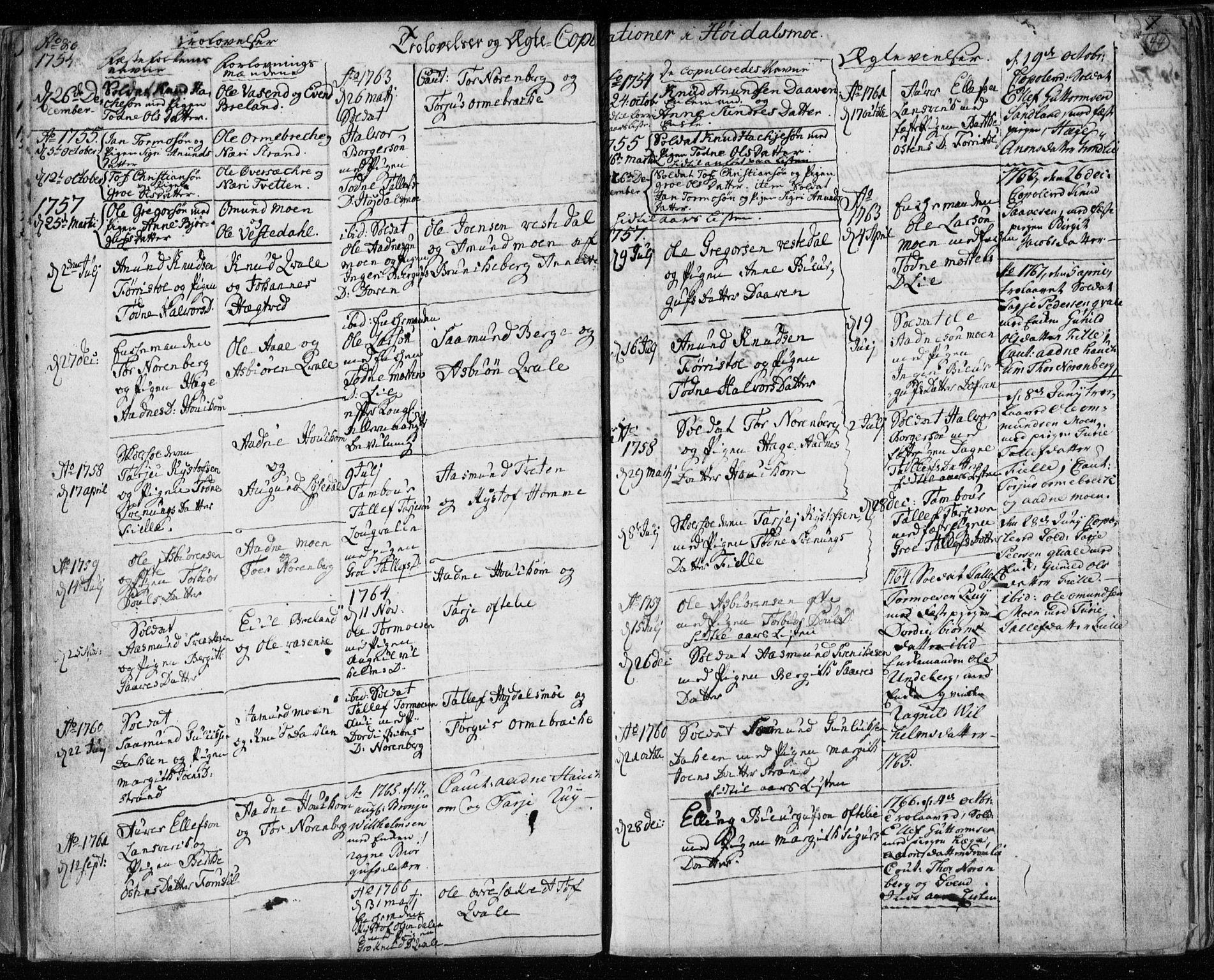 SAKO, Lårdal kirkebøker, F/Fa/L0003: Ministerialbok nr. I 3, 1754-1790, s. 44