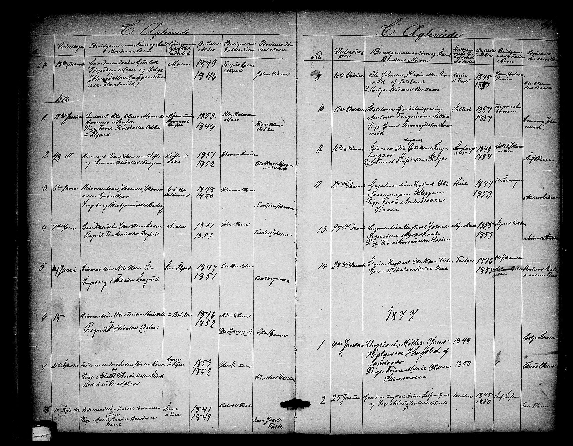 SAKO, Heddal kirkebøker, G/Ga/L0001: Klokkerbok nr. I 1, 1866-1878, s. 316-317