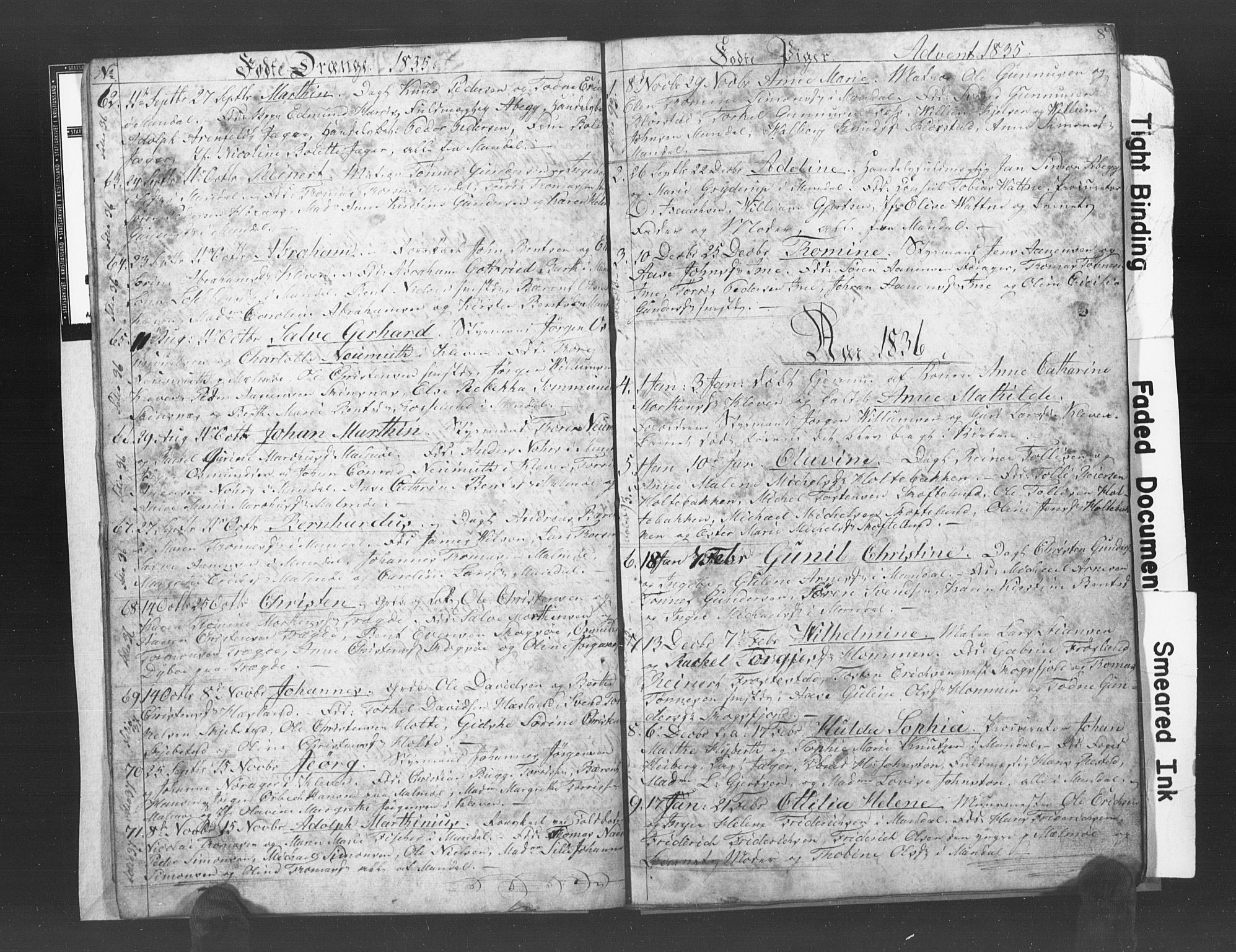SAK, Mandal sokneprestkontor, F/Fb/Fba/L0003: Klokkerbok nr. B 1C, 1834-1838, s. 8