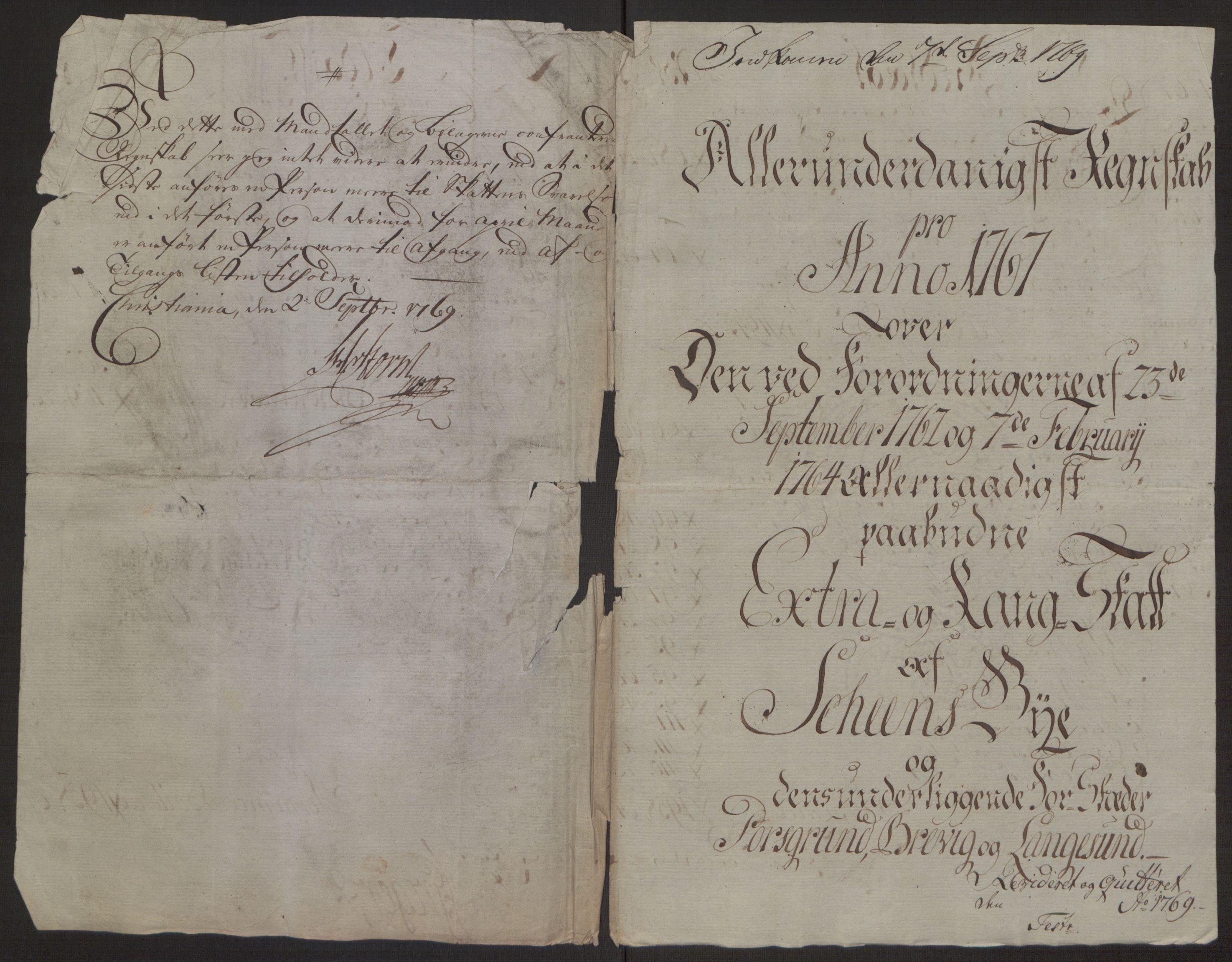 RA, Rentekammeret inntil 1814, Reviderte regnskaper, Byregnskaper, R/Rj/L0198: [J4] Kontribusjonsregnskap, 1762-1768, s. 426