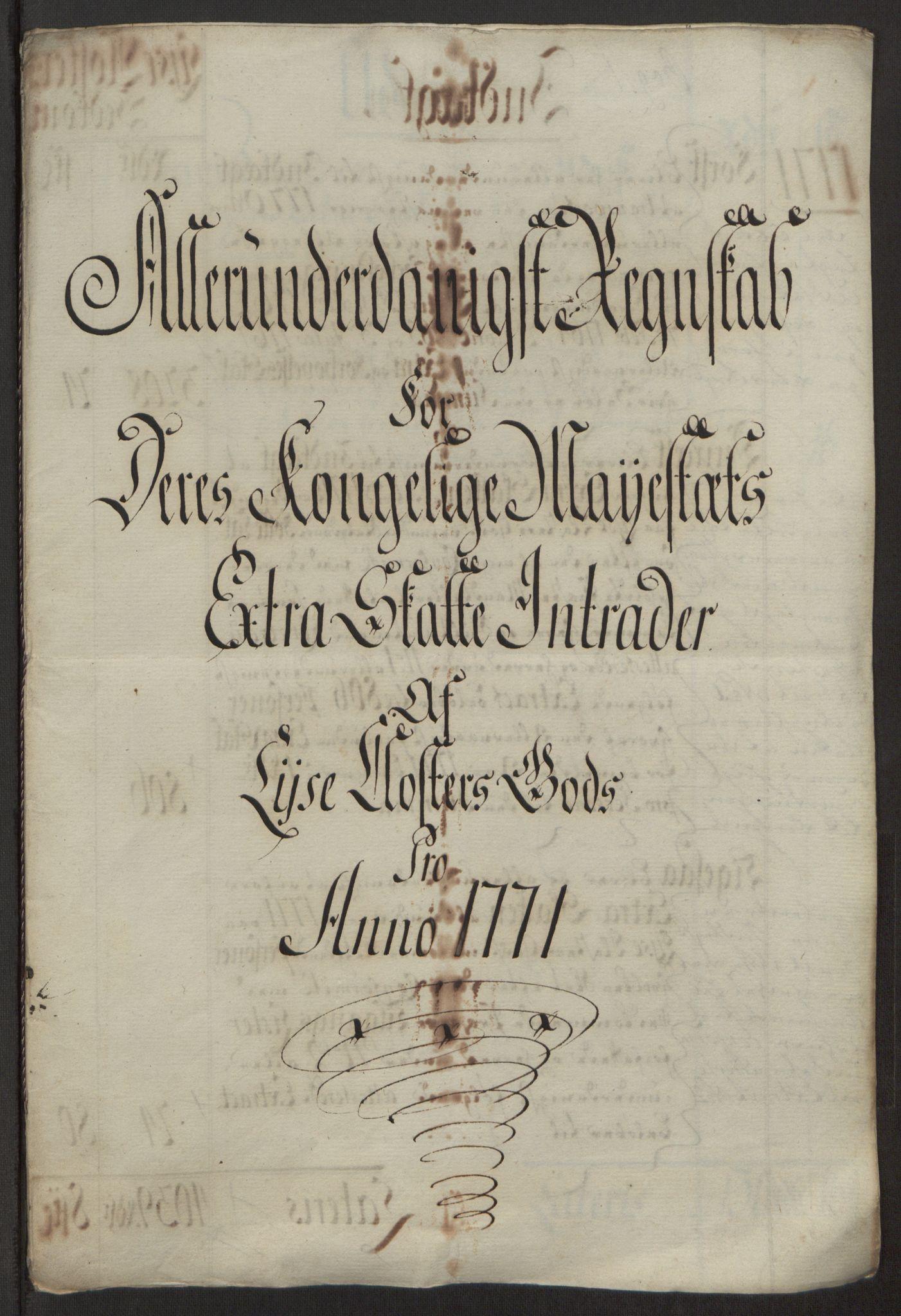 RA, Rentekammeret inntil 1814, Reviderte regnskaper, Fogderegnskap, R50/L3180: Ekstraskatten Lyse kloster, 1762-1783, s. 246