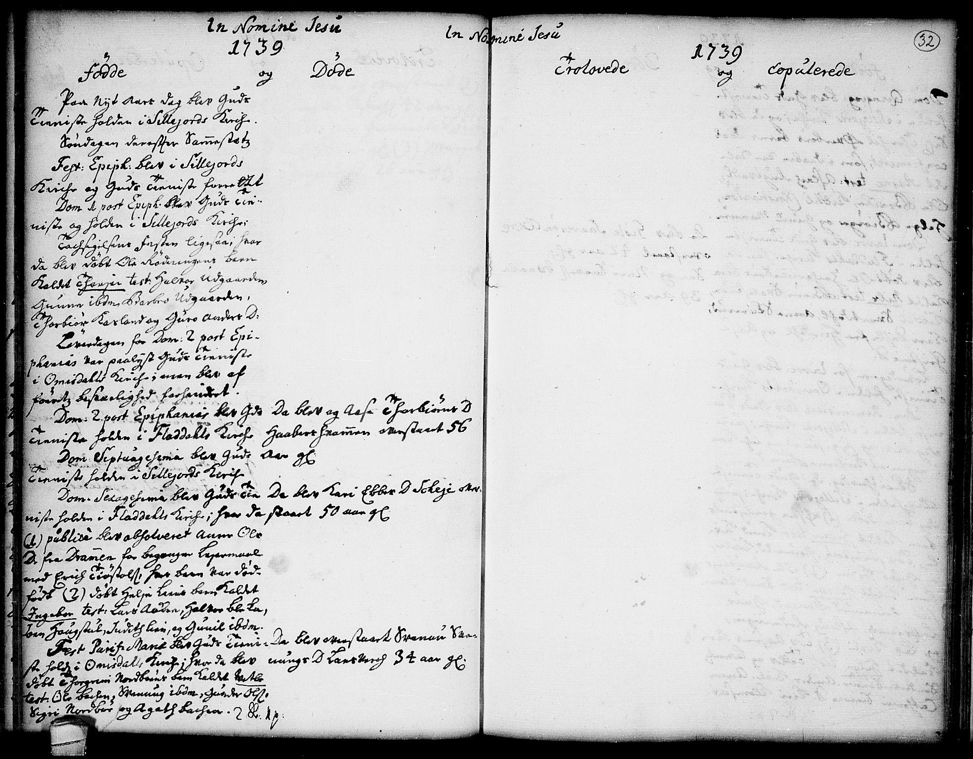 SAKO, Seljord kirkebøker, F/Fa/L0005: Ministerialbok nr. I 5, 1737-1743, s. 32