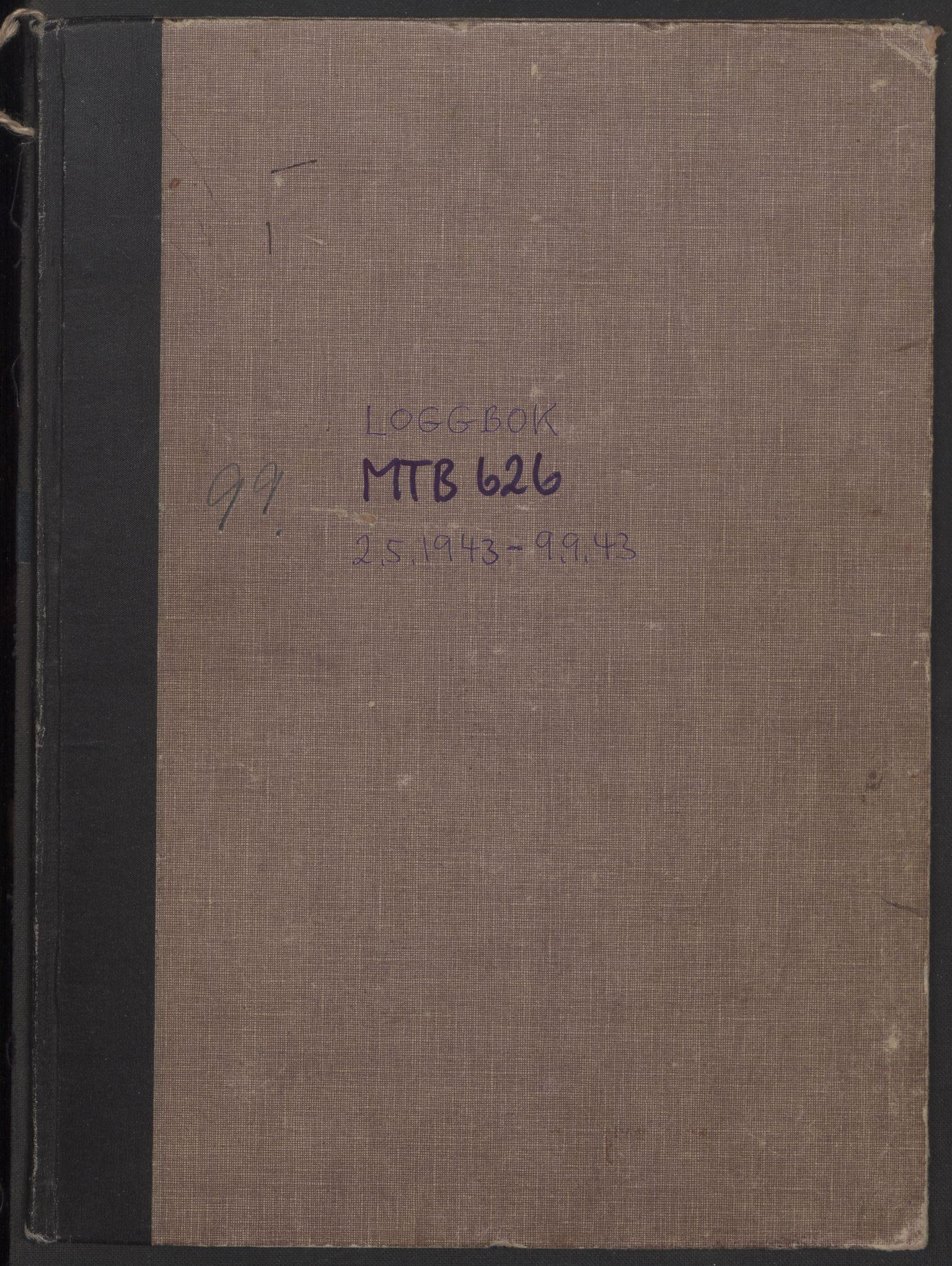 RA, Forsvaret, Sjøforsvarets fartøyer, Gm6/L0004: Loggbok, 1943