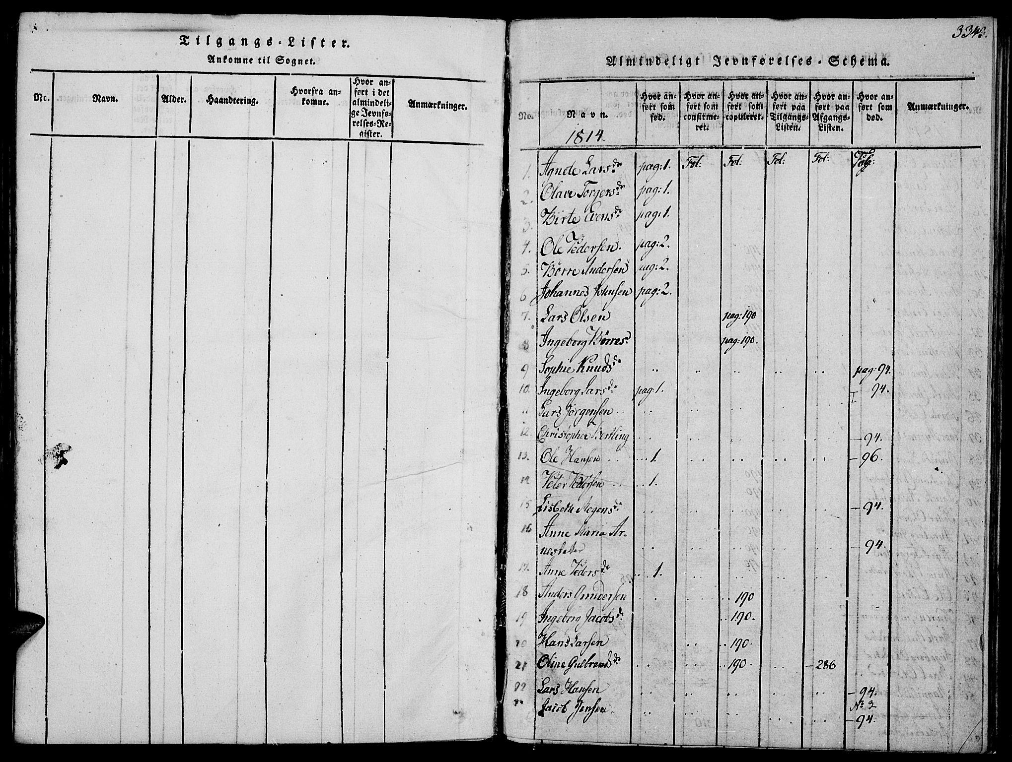 SAH, Biri prestekontor, Ministerialbok nr. 3, 1814-1828, s. 334