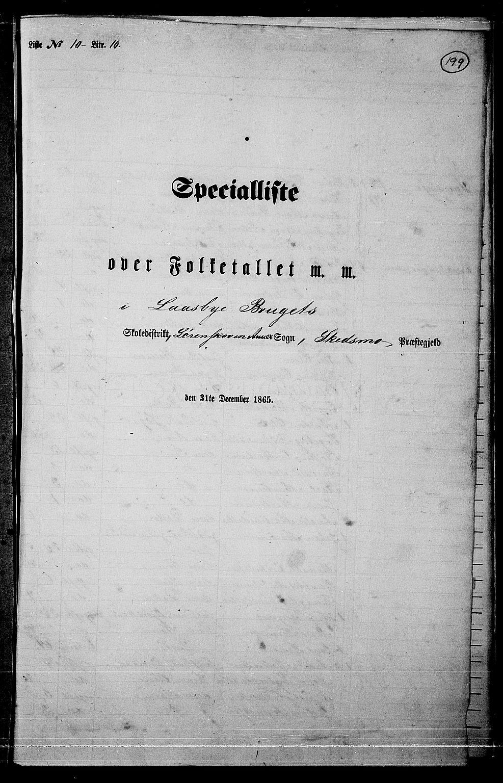 RA, Folketelling 1865 for 0231P Skedsmo prestegjeld, 1865, s. 172
