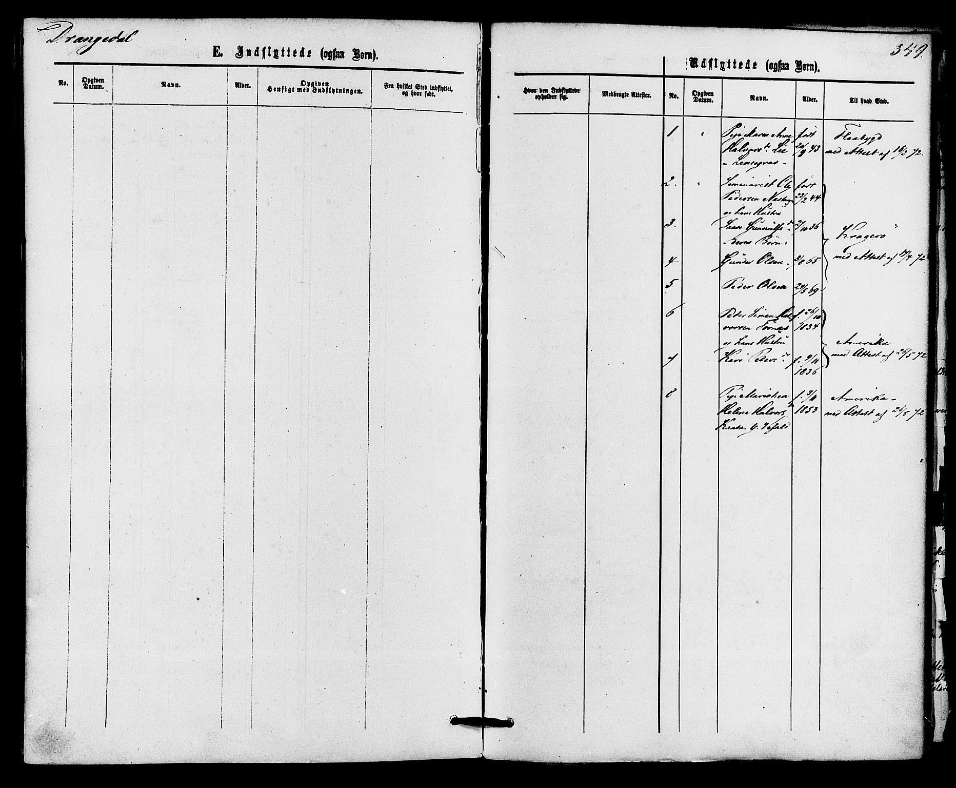 SAKO, Drangedal kirkebøker, F/Fa/L0009: Ministerialbok nr. 9 /1, 1872-1884, s. 349